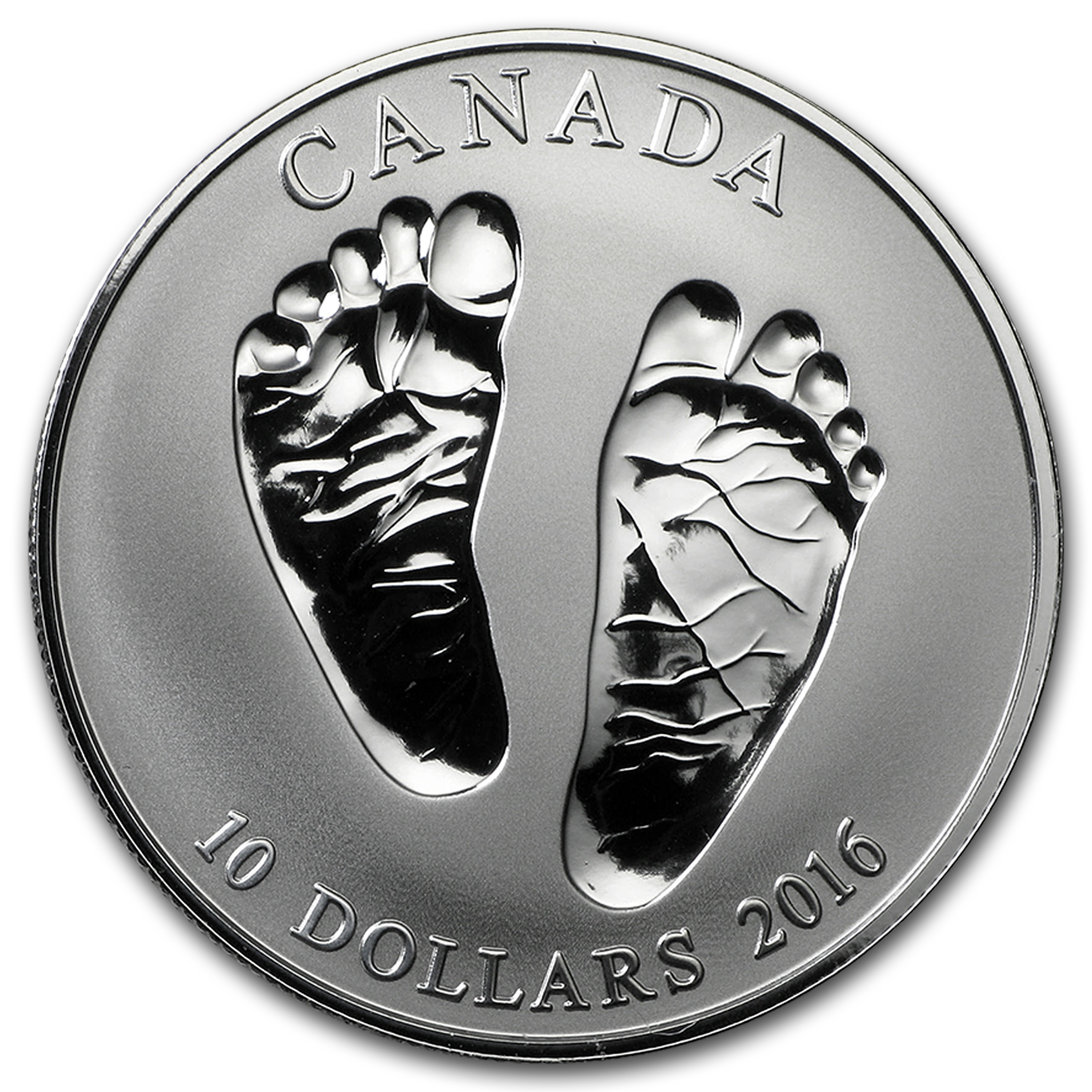 2016 Canada 1/2 oz Silver $10 Welcome Baby Reverse Proof