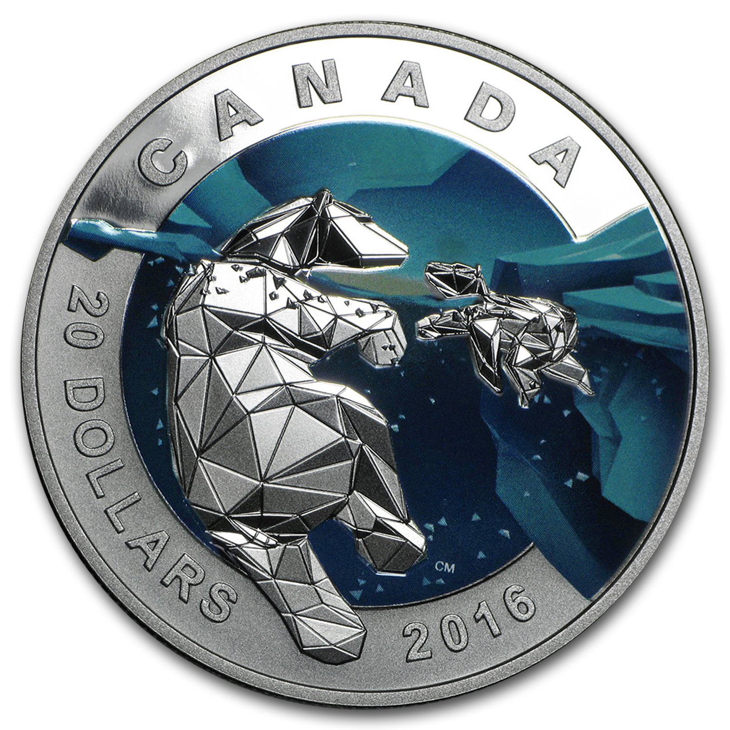 2016 Canada Silver 1 oz Silver Geometry in Art: The Polar Bear