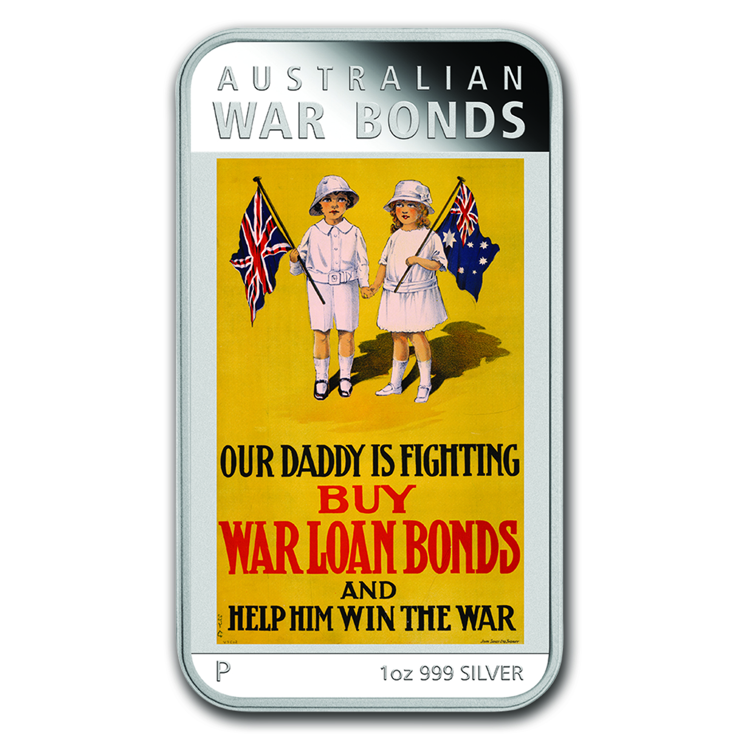 2016 Australia 1 oz Silver Posters of WWI Proof (War Bonds)