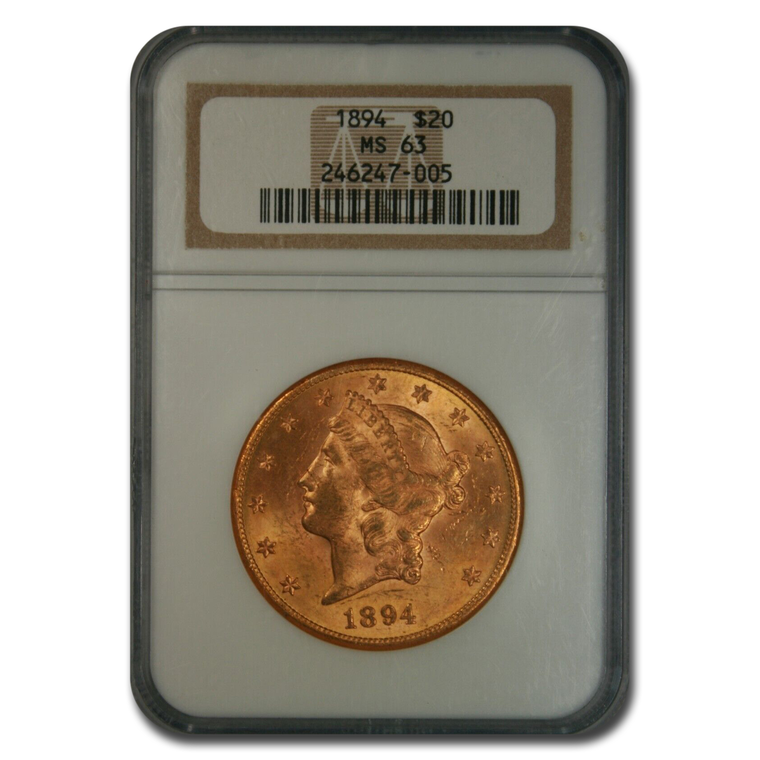 1894 $20 Liberty Gold Double Eagle MS-63 NGC