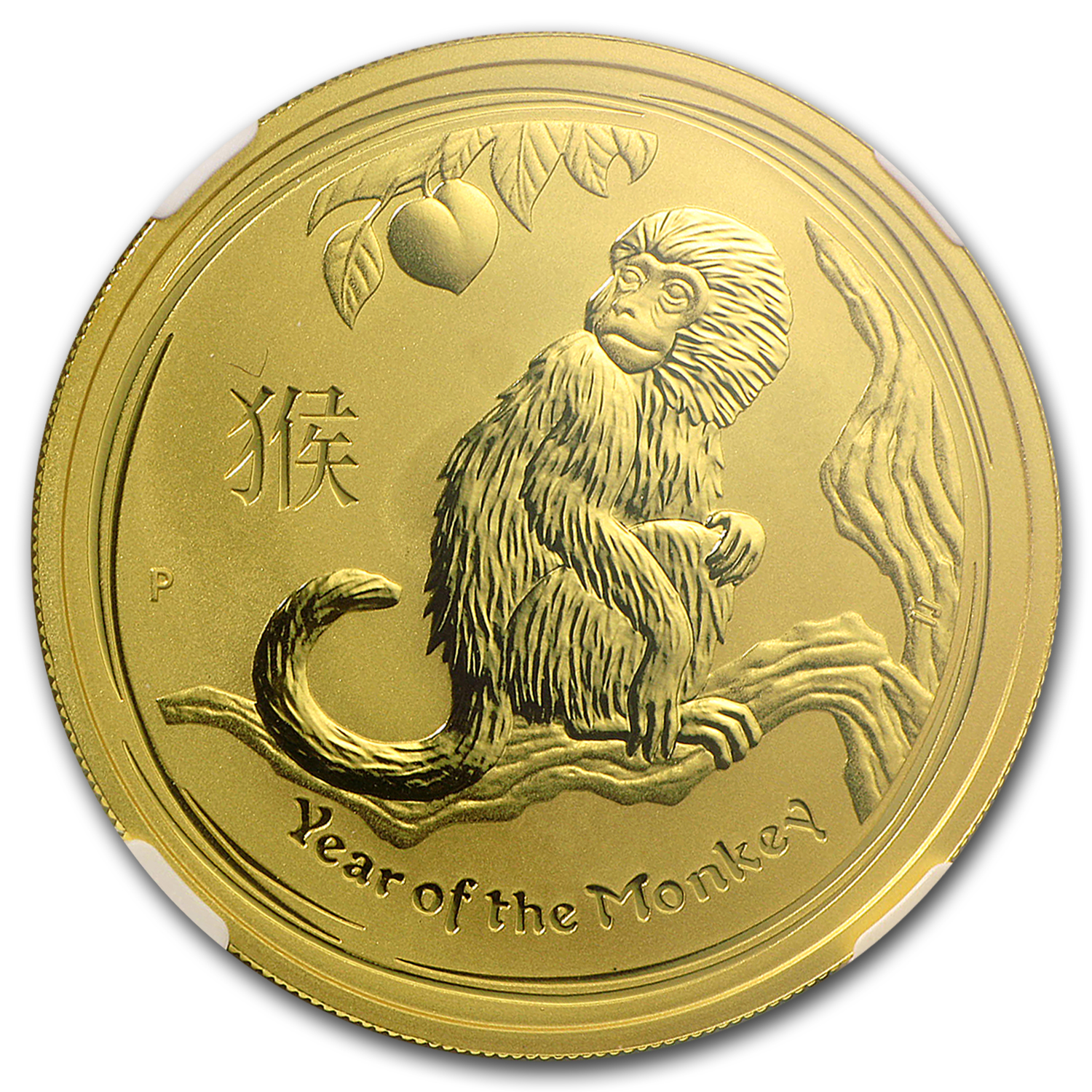 2016 1 oz Gold Lunar Year of the Monkey MS-70 NGC