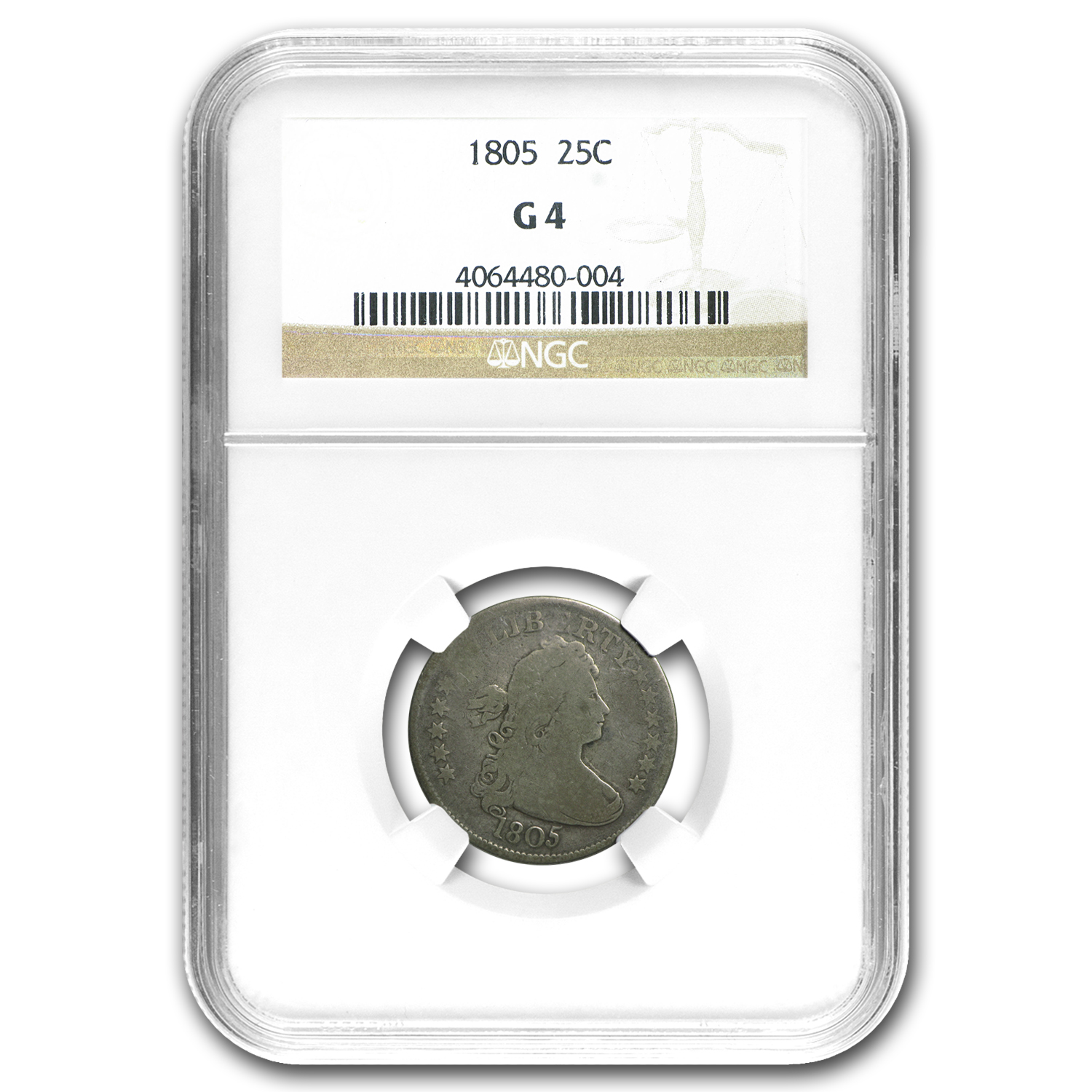 1805 Draped Bust Quarter Good-04 NGC