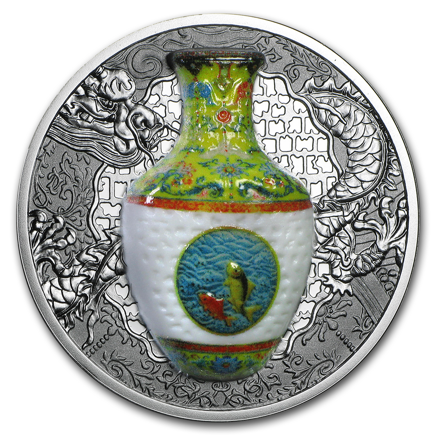 2016 Niue 1 oz Silver Qing Dynasty Chinese Porcelain Vase
