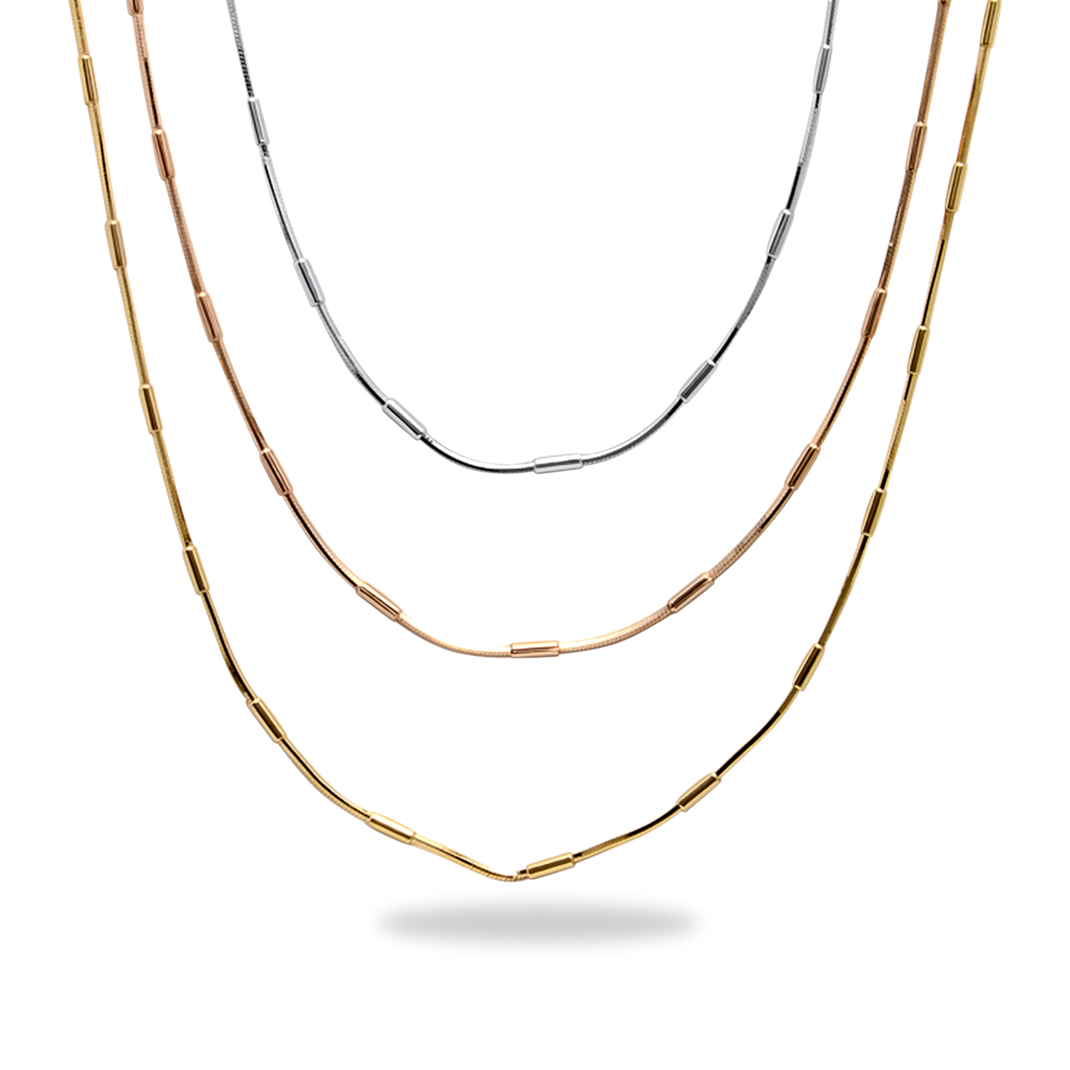 Sterling Silver Rose & Yellow Gold-Plated Multi-Strand Necklace