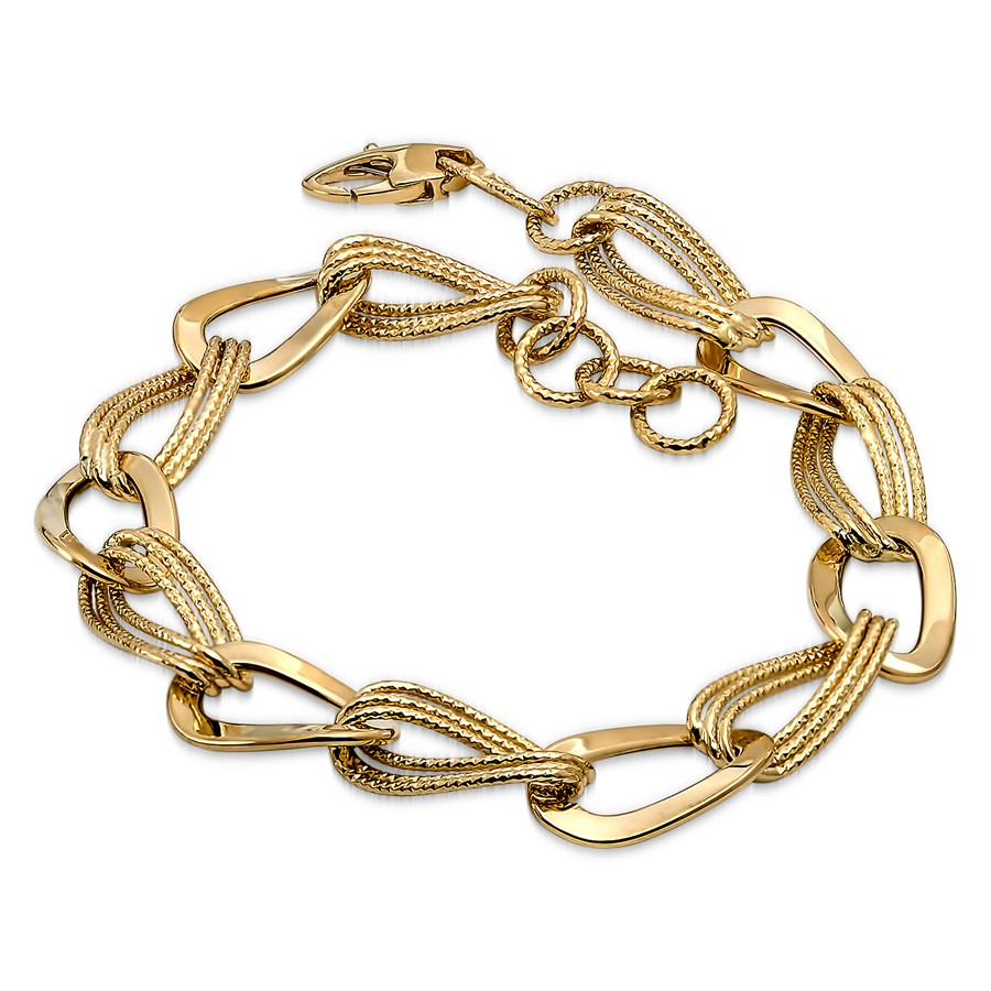 14k gold polished textured hollow bracelet gold for What is gold polished jewelry