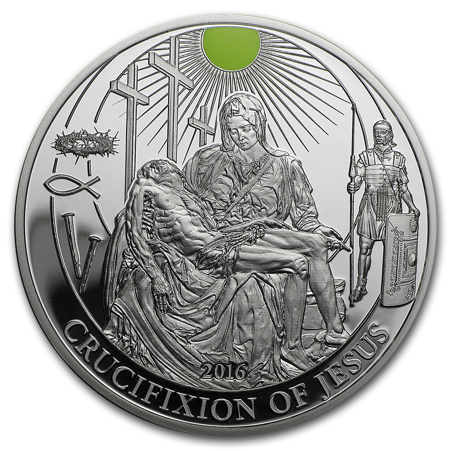 2016 Palau Proof Silver Biblical Stories (Crucifixion of Jesus)