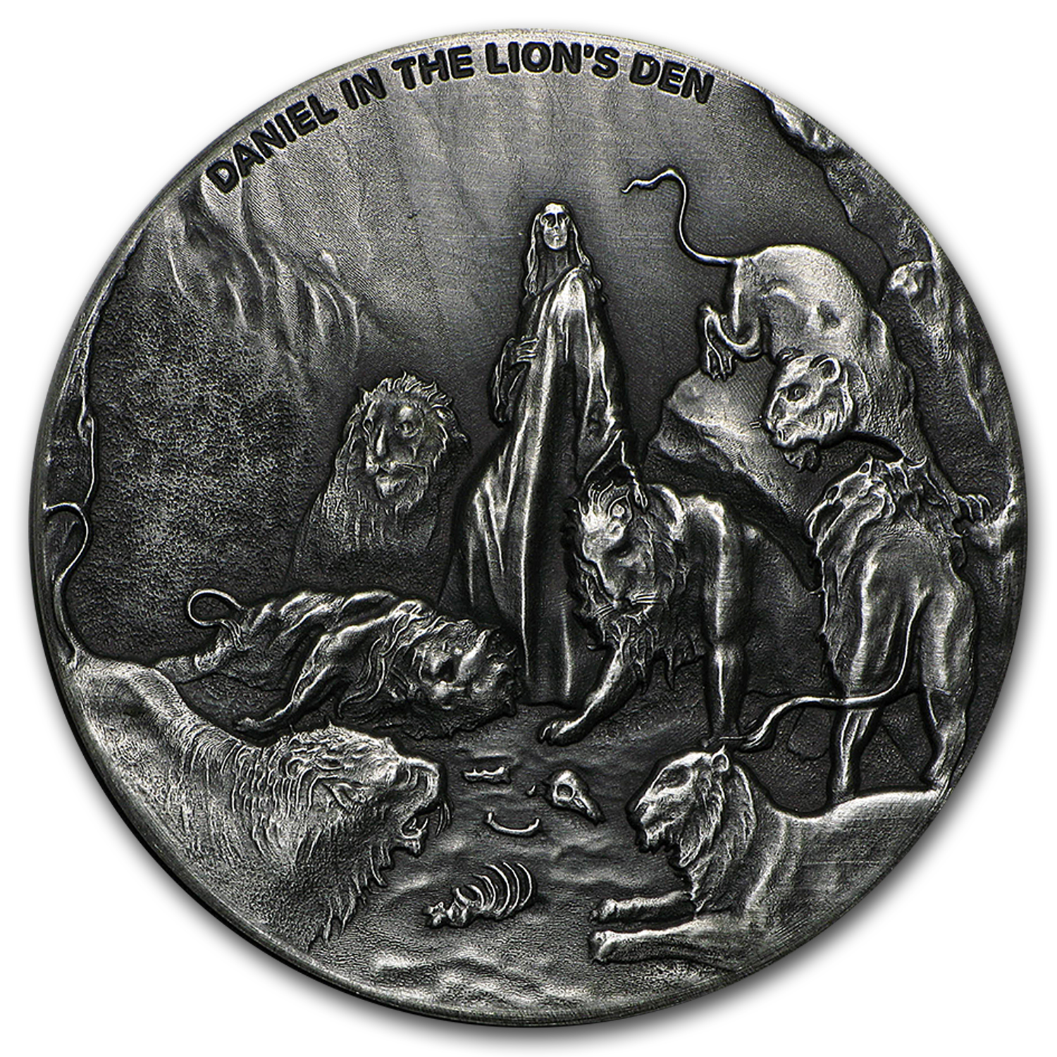 2016 2 oz Silver Coin- Biblical Series (Daniel in the Lion's Den)