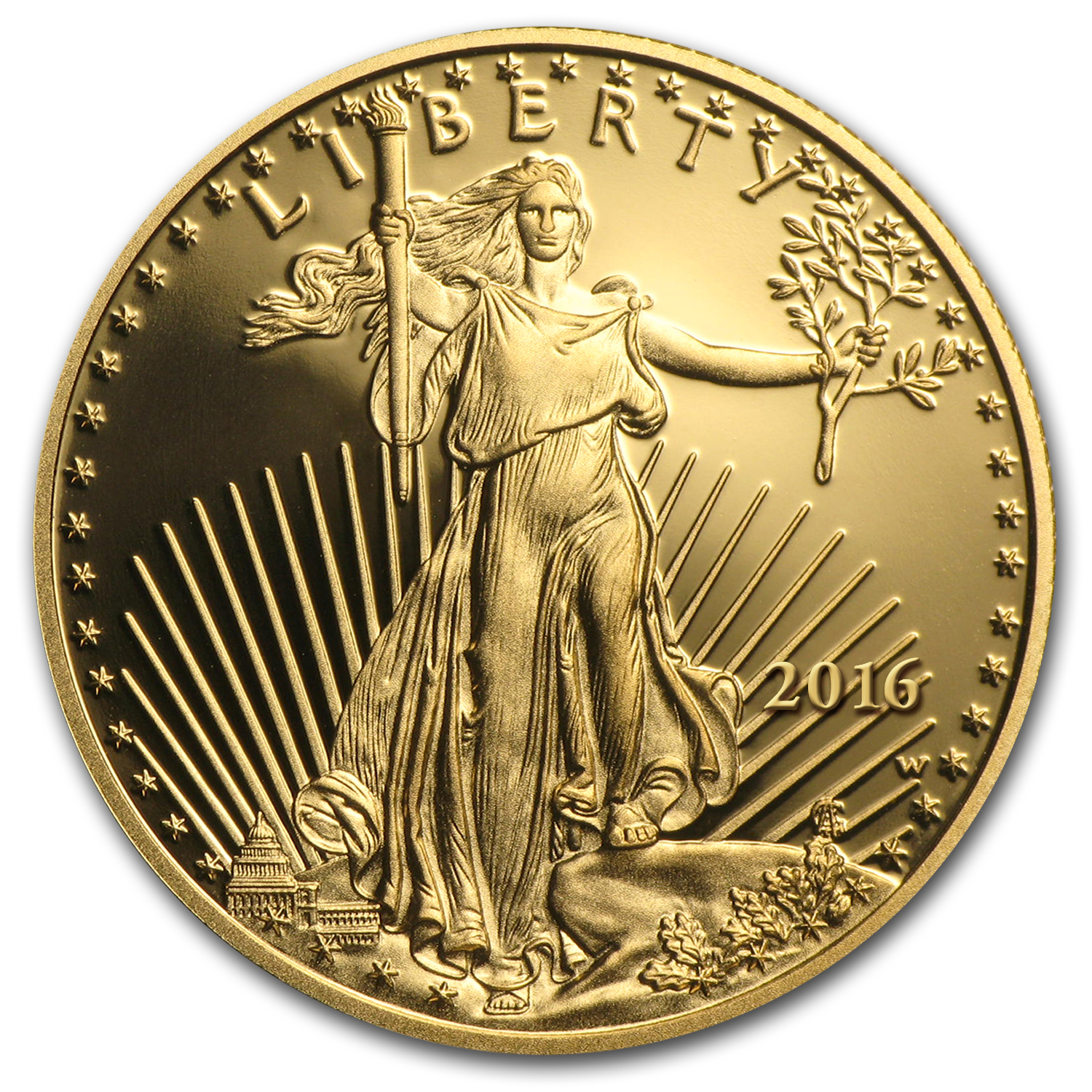 2016-W 1 oz Proof Gold American Eagle (w/Box & COA)