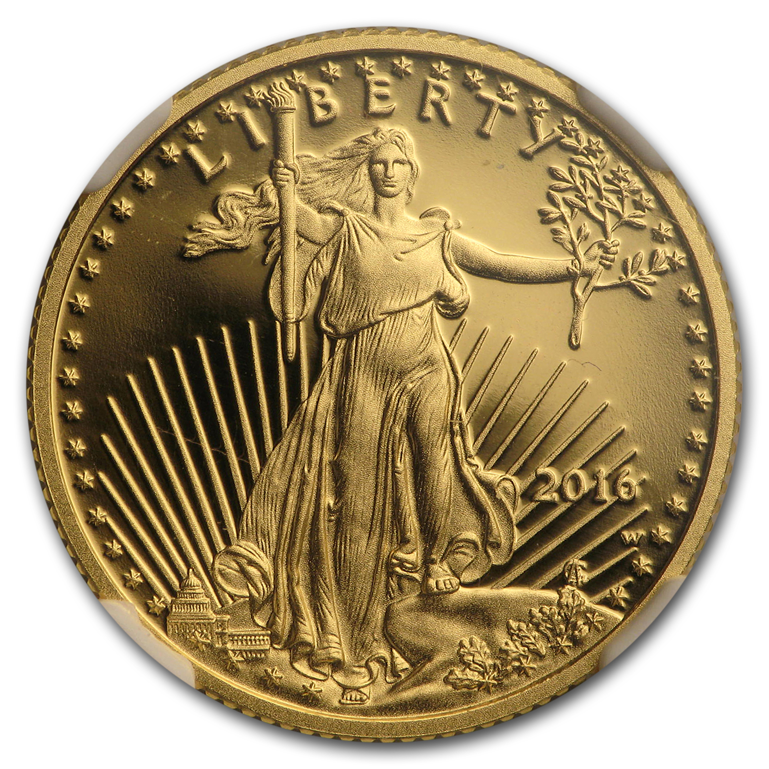 2016-W 1/4 oz Proof Gold American Eagle PF-70 NGC (ER)