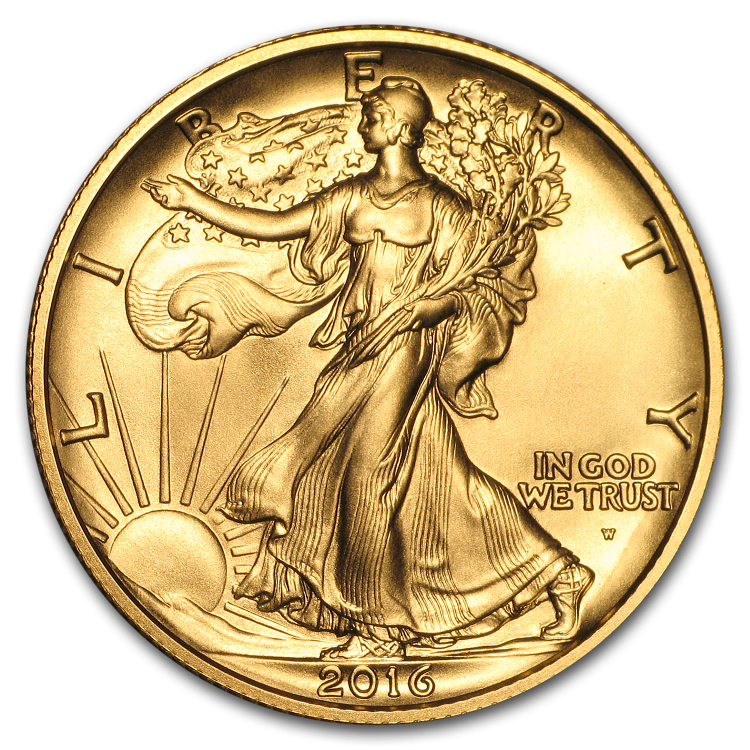 2016-W 1/2 oz Gold Walking Liberty Half Dollar Centennial (w/OGP)