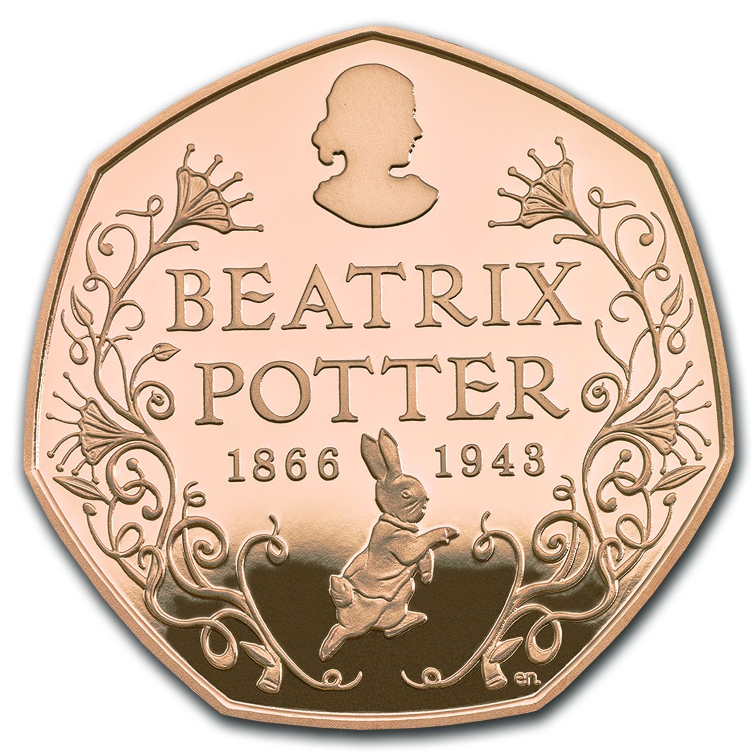 2016 Great Britain Gold 50 pence Beatrix Potter Proof