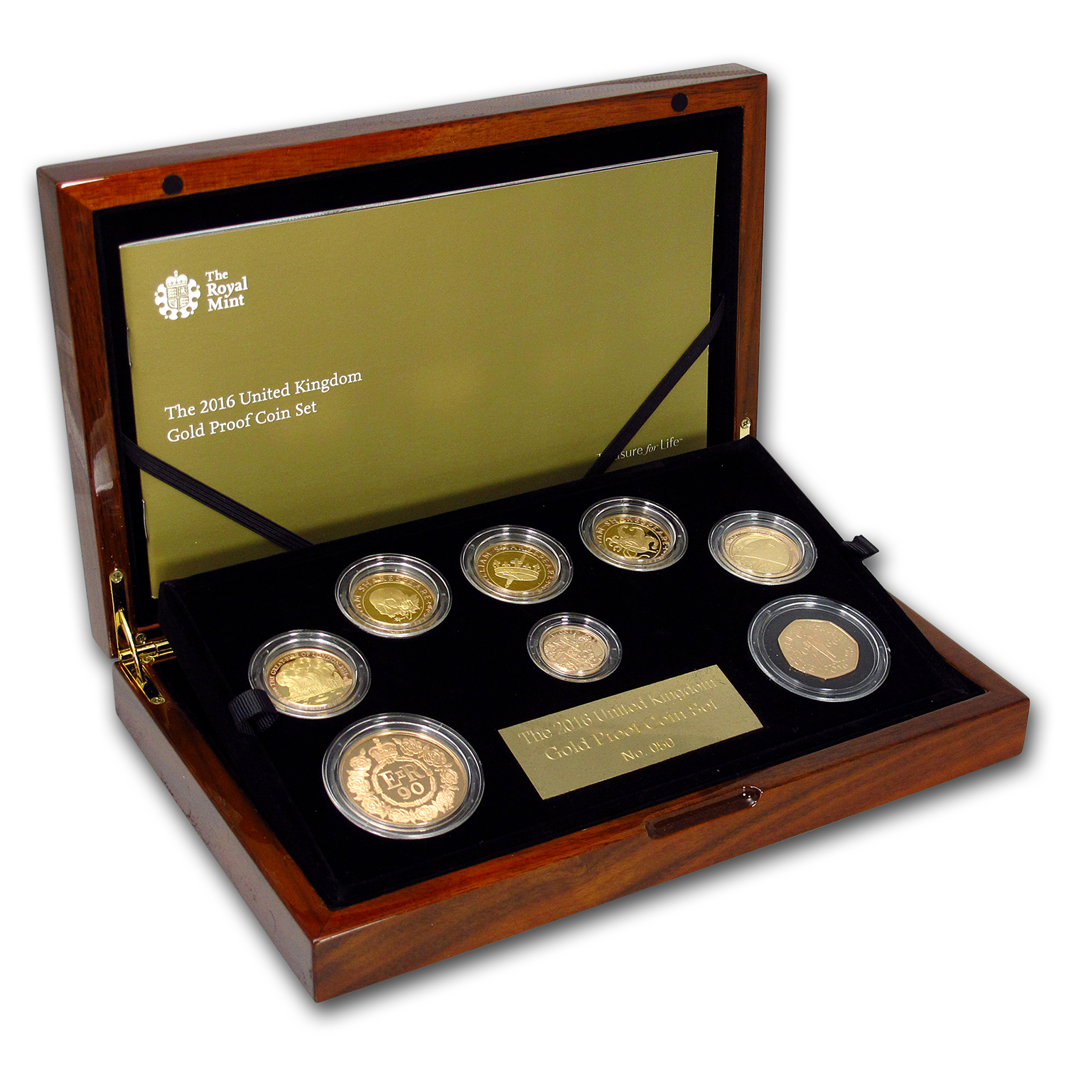 2016 Great Britain 8-Coin Proof Gold Annual Set