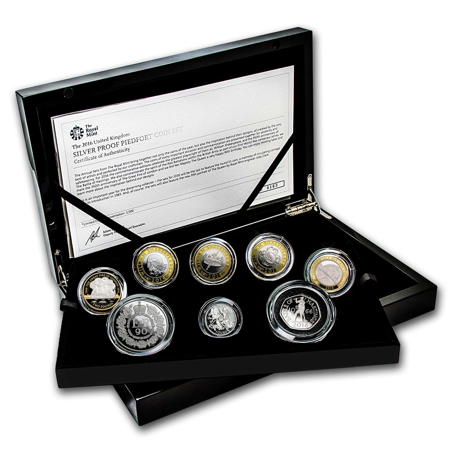 2016 Great Britain 8-Coin Silver Piedfort Proof Set