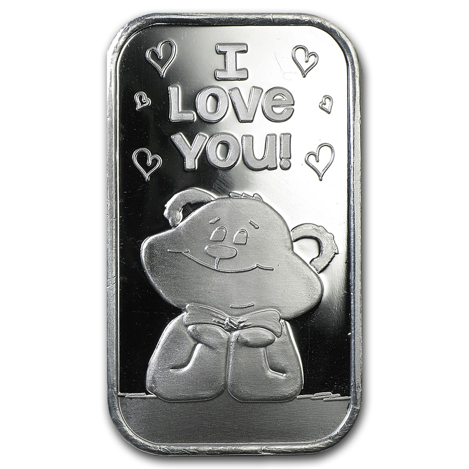 1 oz Silver Bar - I Love You Bear