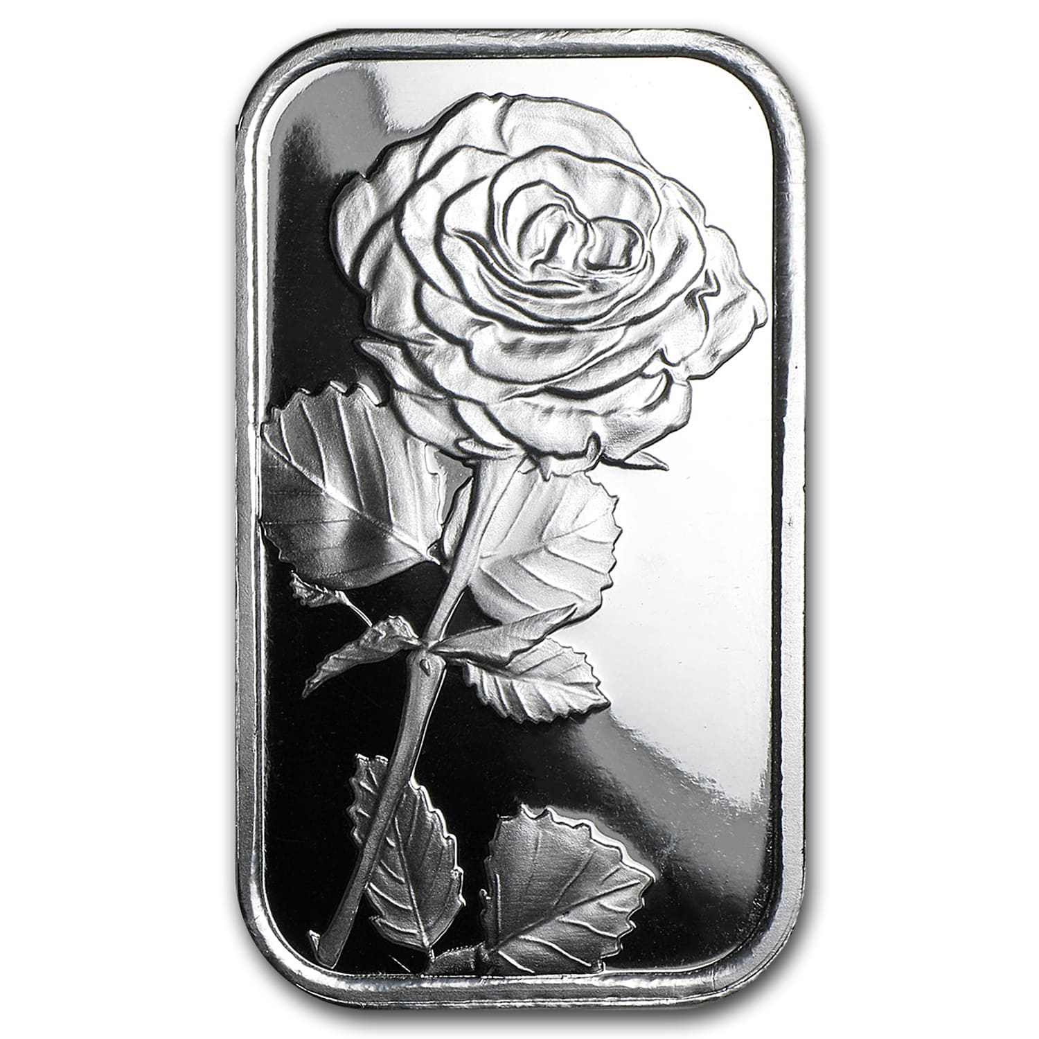 1 oz Silver Bar - Rose