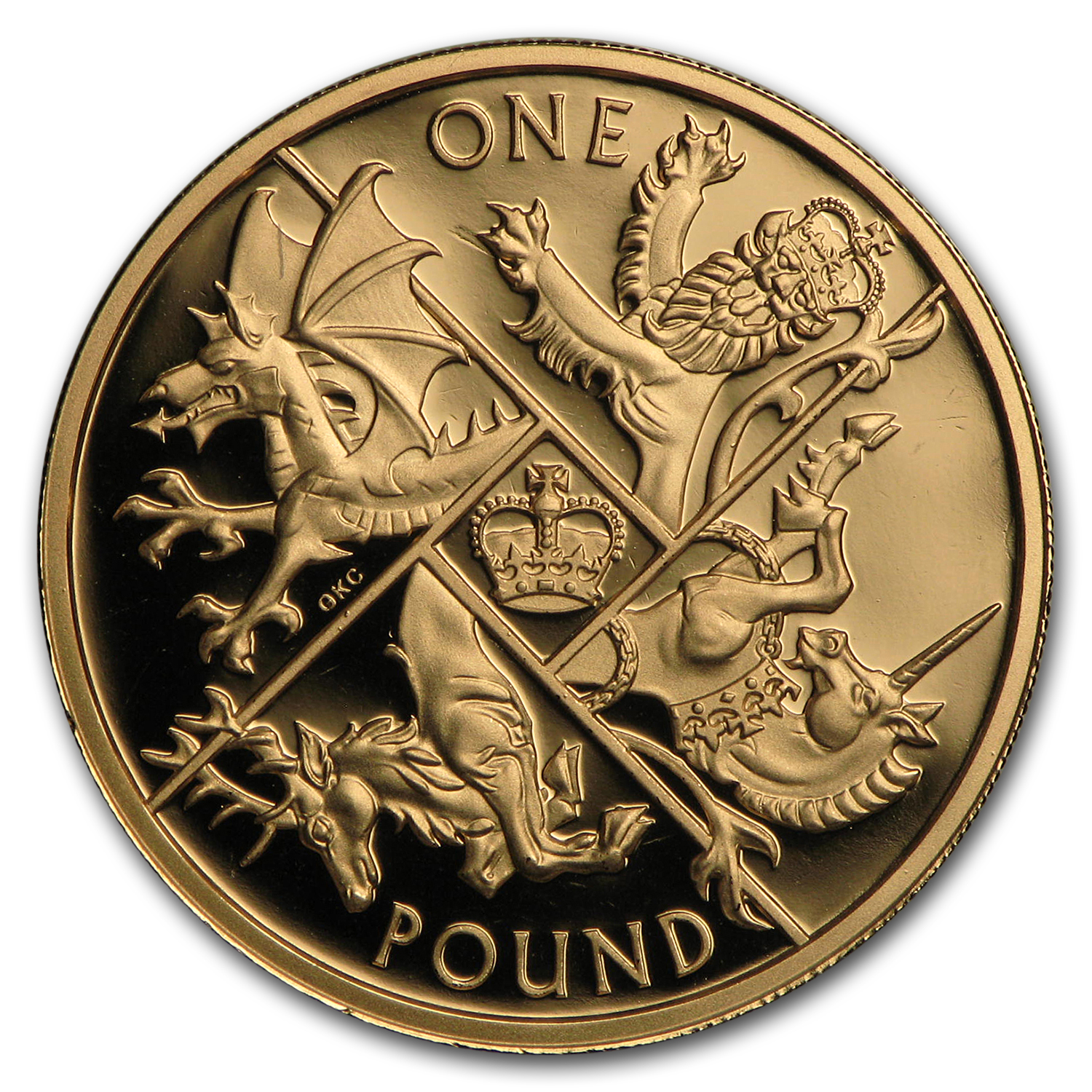 2016 Great Britain Gold £1 Last Round Pound Proof