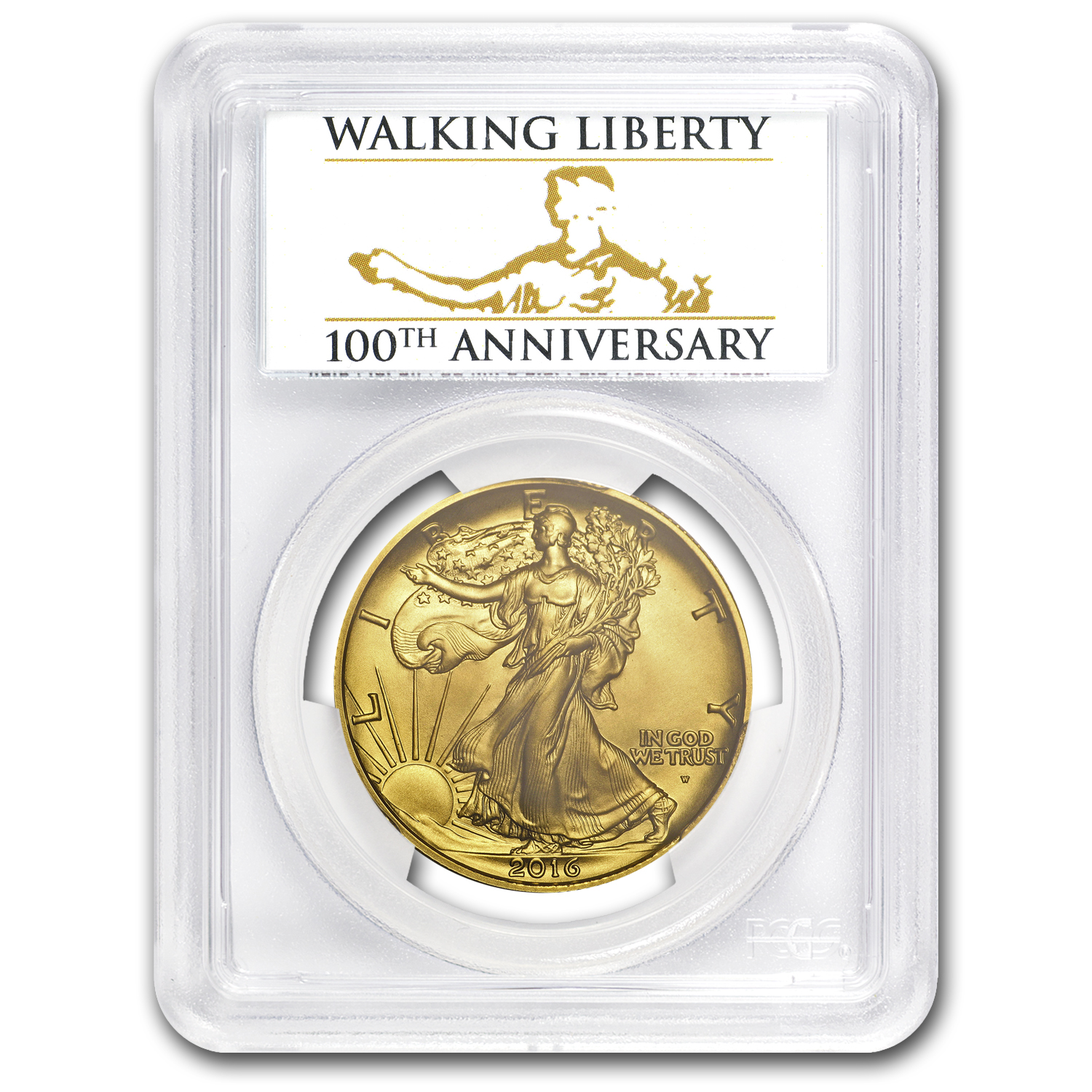 2016-W 1/2 oz Gold Walking Liberty Half Dollar SP-70 PCGS (FS)