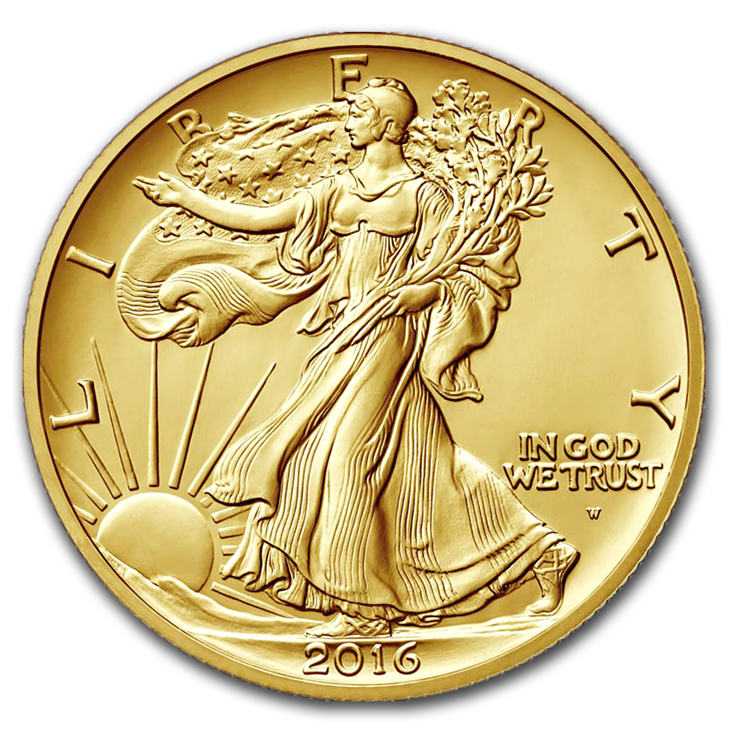 2016-W 1/2 oz Gold Walking Liberty Half Dollar SP-70 NGC (ER)