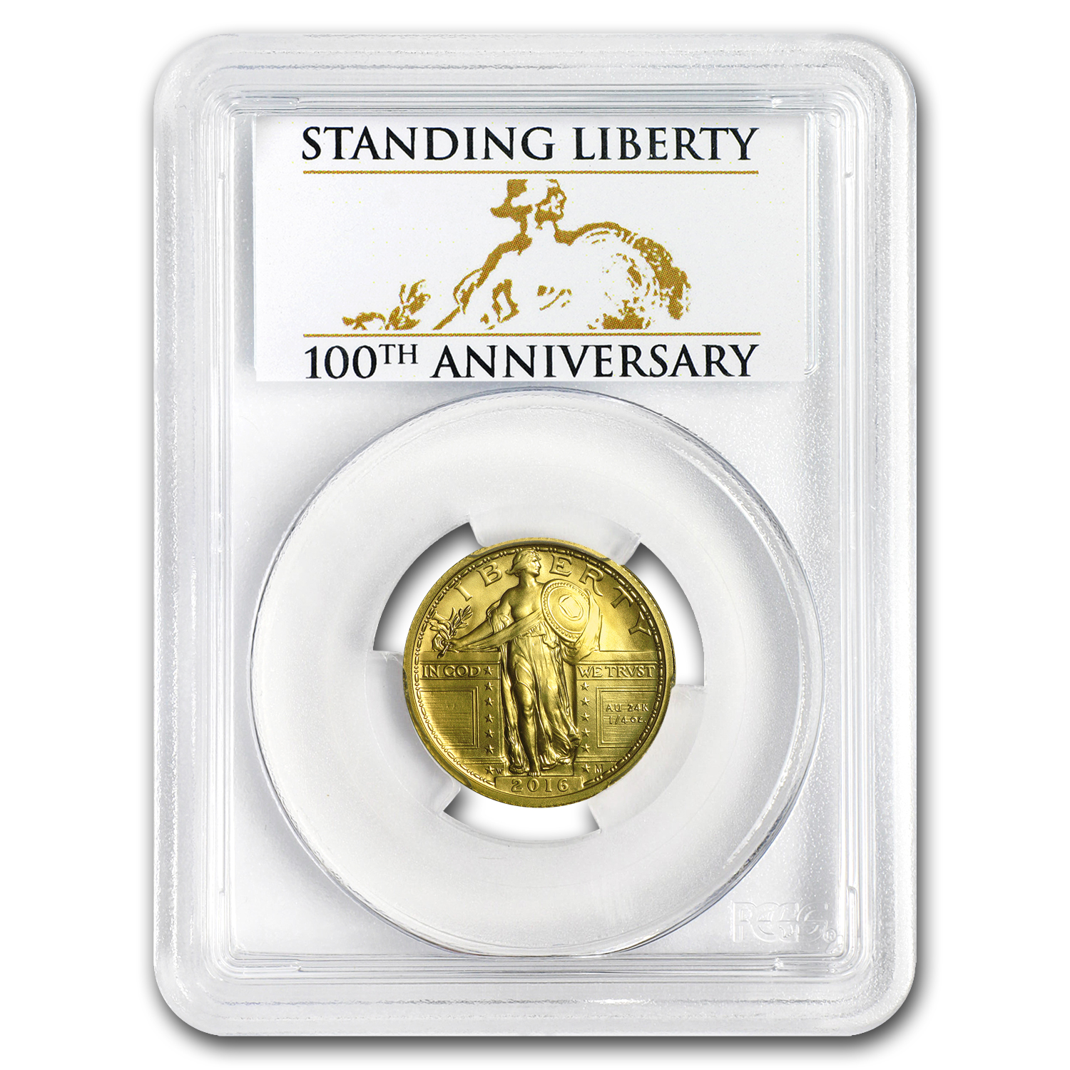 2016-W 1/4 oz Gold Standing Liberty Quarter SP-70 PCGS (FS)