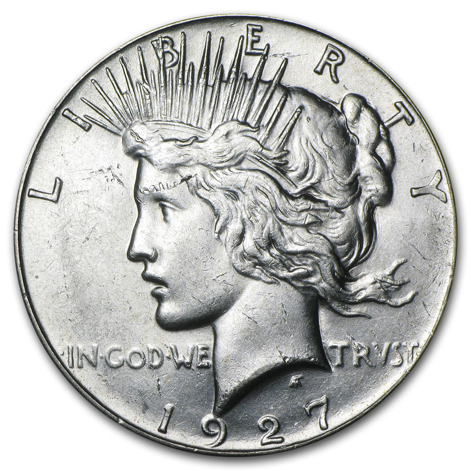 1927 Peace Dollar - Almost Uncirculated