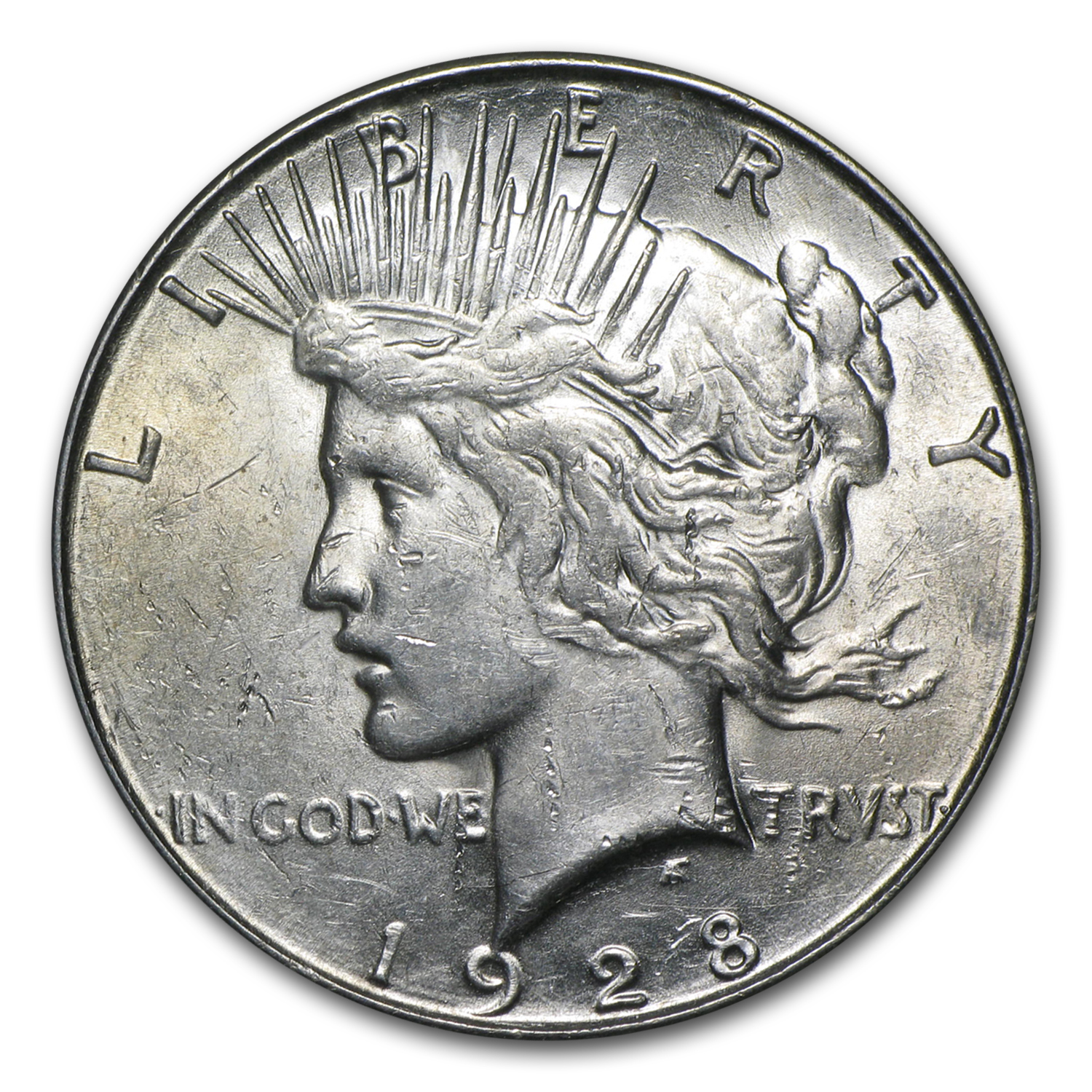 1928-S Peace Dollar - Almost Uncirculated