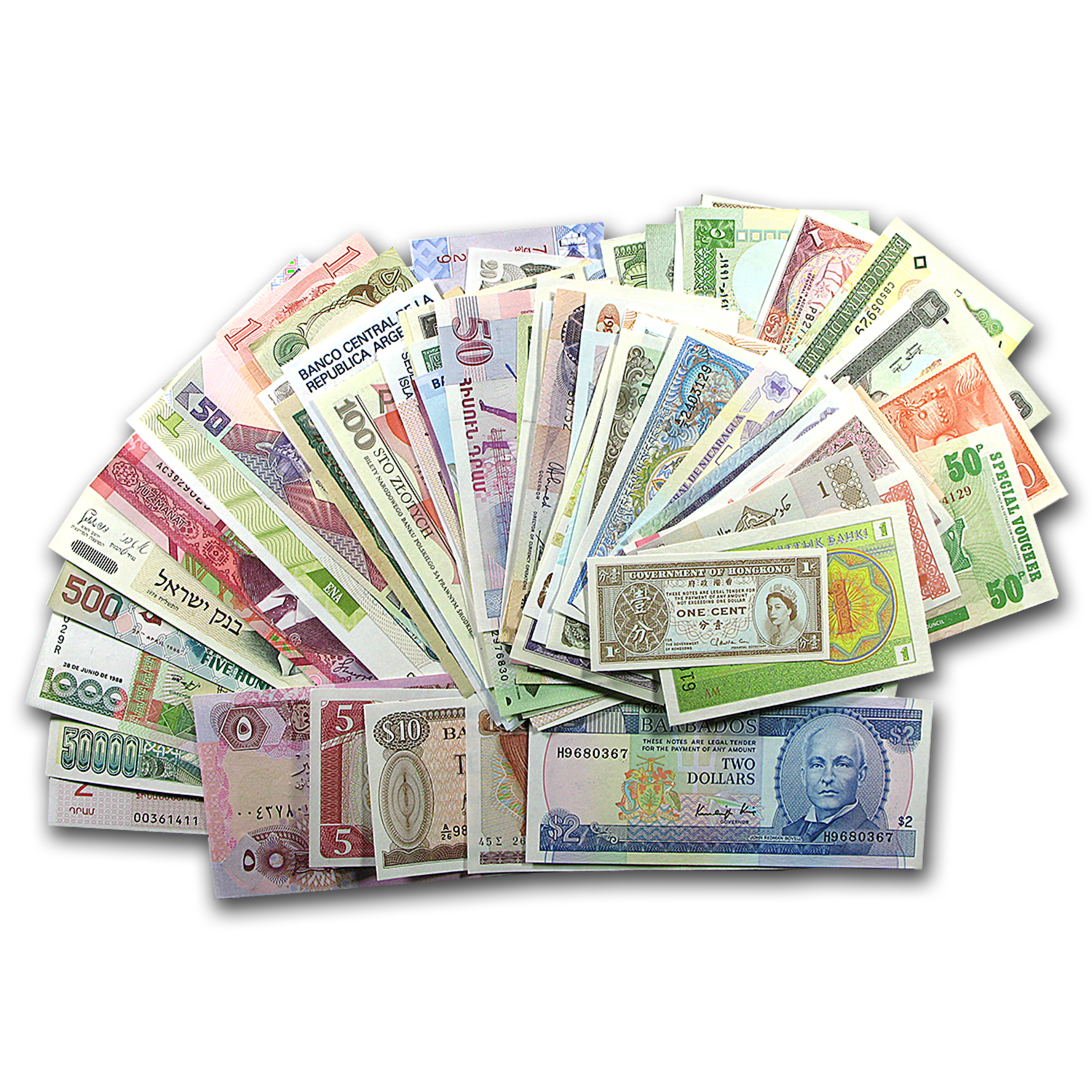 100 Bank Notes from 100 Countries (Uncirculated)