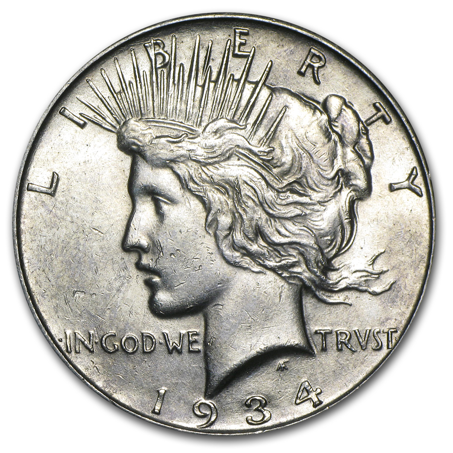 1934-D Peace Dollar - Almost Uncirculated