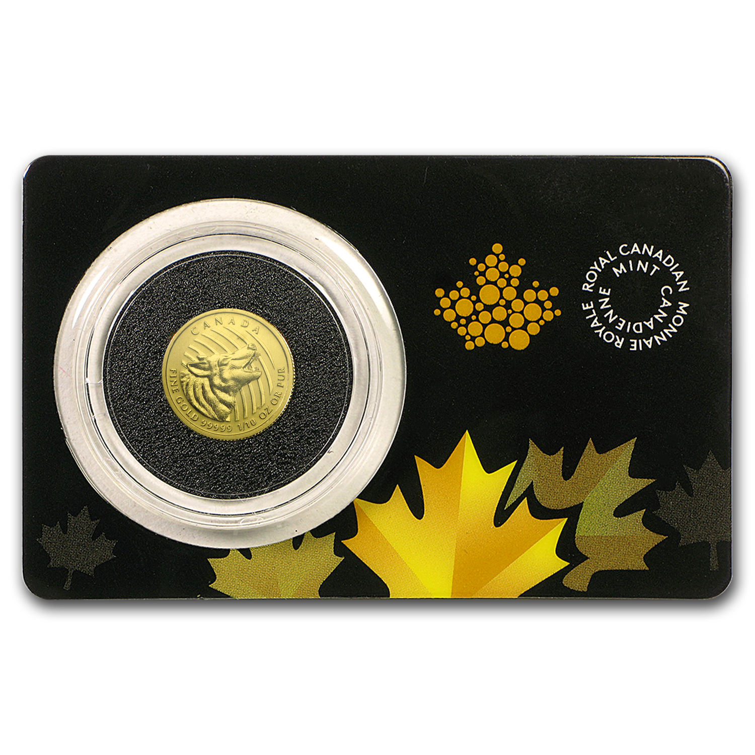 2015 Canada 1/10 oz Gold Howling Wolf .99999 BU (Assay Card)