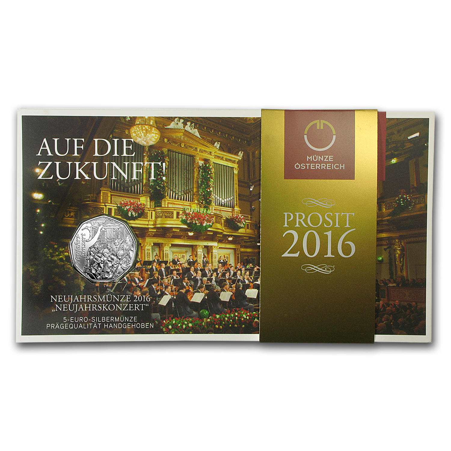 2016 Austria Silver €5 New Year BU