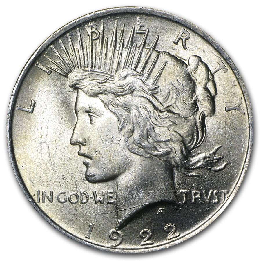 1922 Peace Dollar Bu Peace Dollars 1921 1935 Date