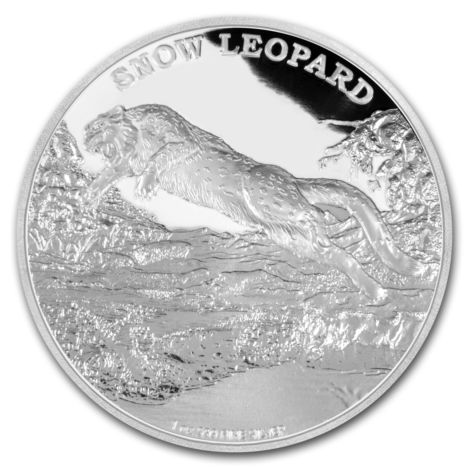 2016 Niue 1 oz Silver Endangered Species Snow Leopard