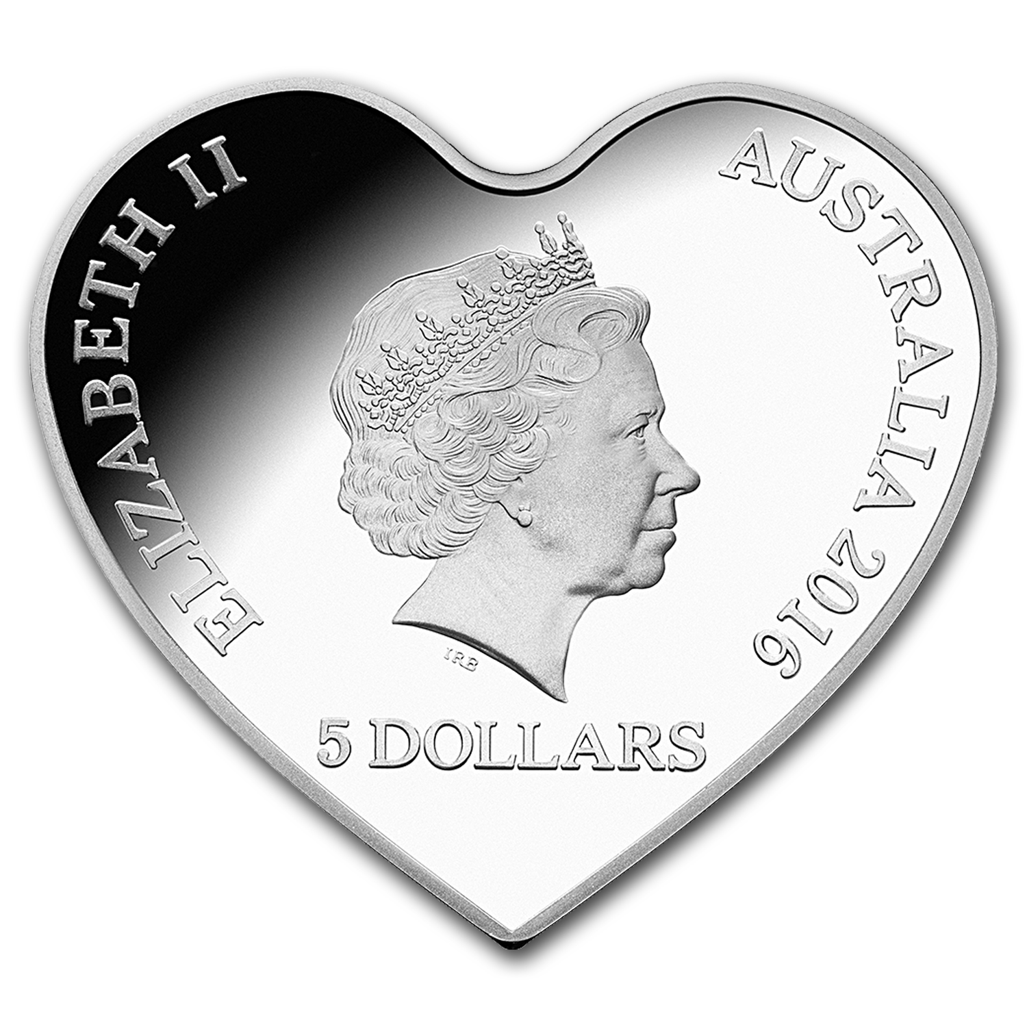 2016 Australia Silver $5 Eternal Love Heart Coin (Colorized)