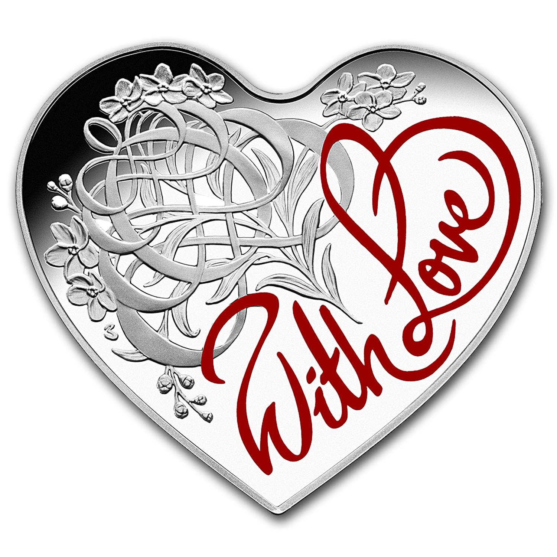2016 Australia Silver 5 Eternal Love Heart Coin