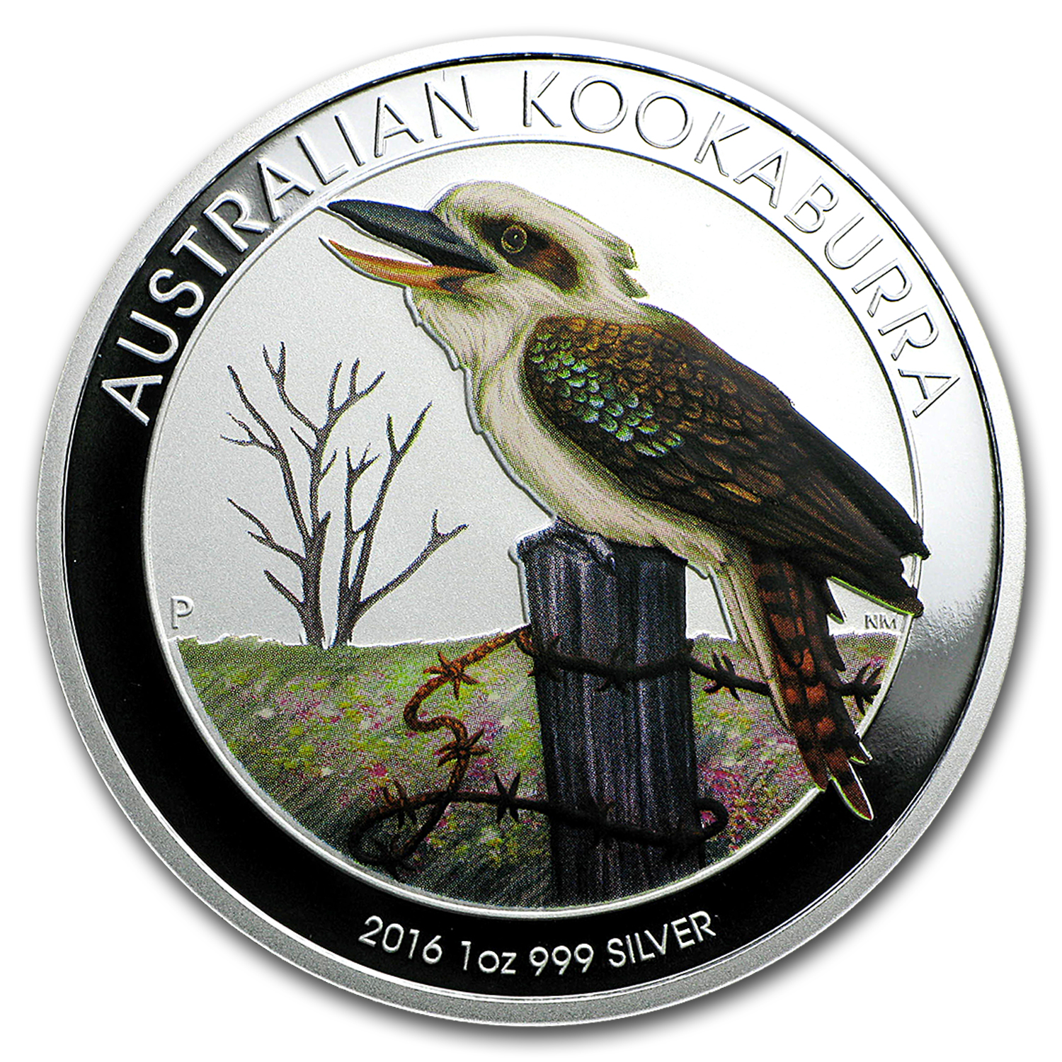 2016 AUS 1 oz Silver Colorized Kookaburra (Berlin Coin Show)