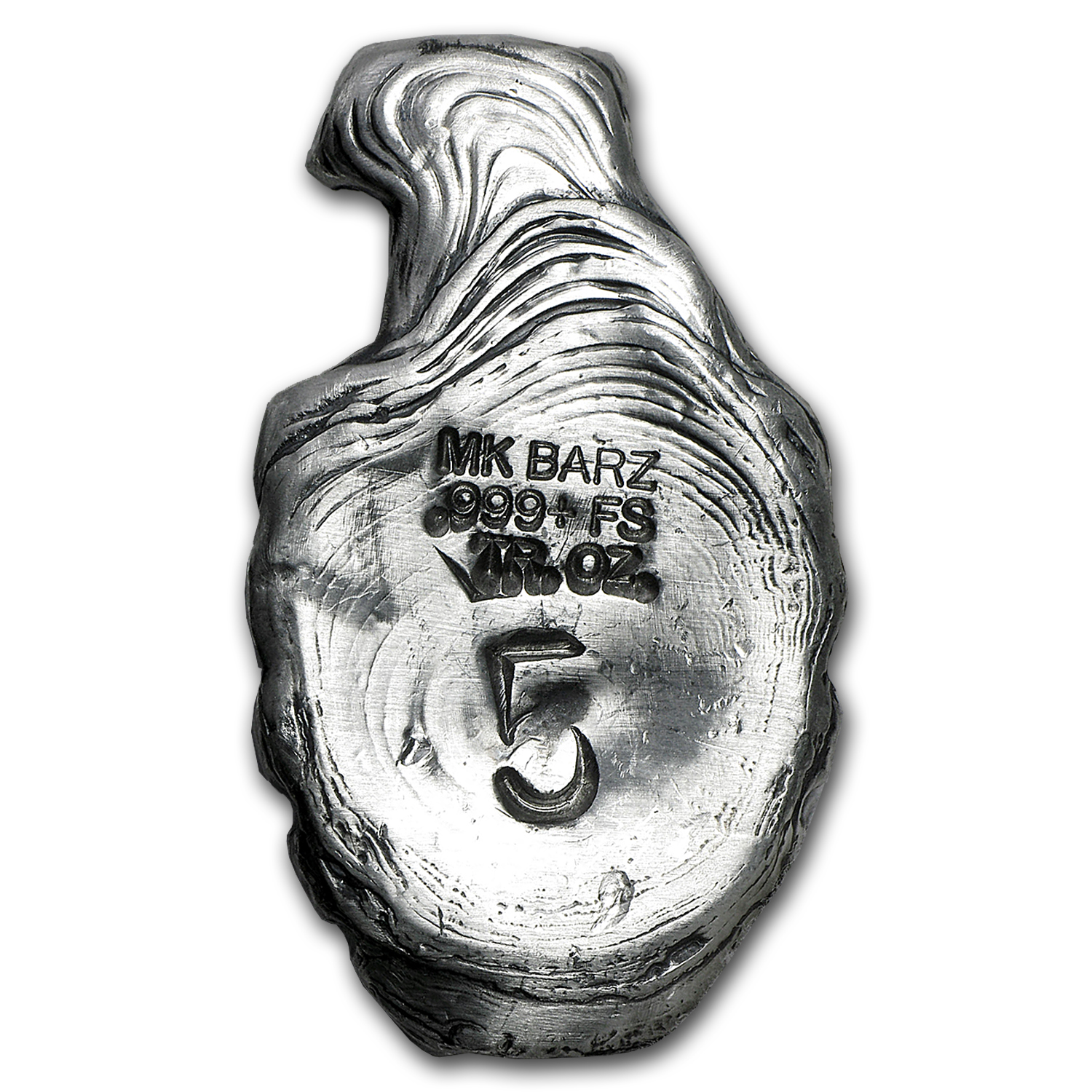 5 oz Silver Hand Grenade - MK Barz & Bullion (Antique Finish)