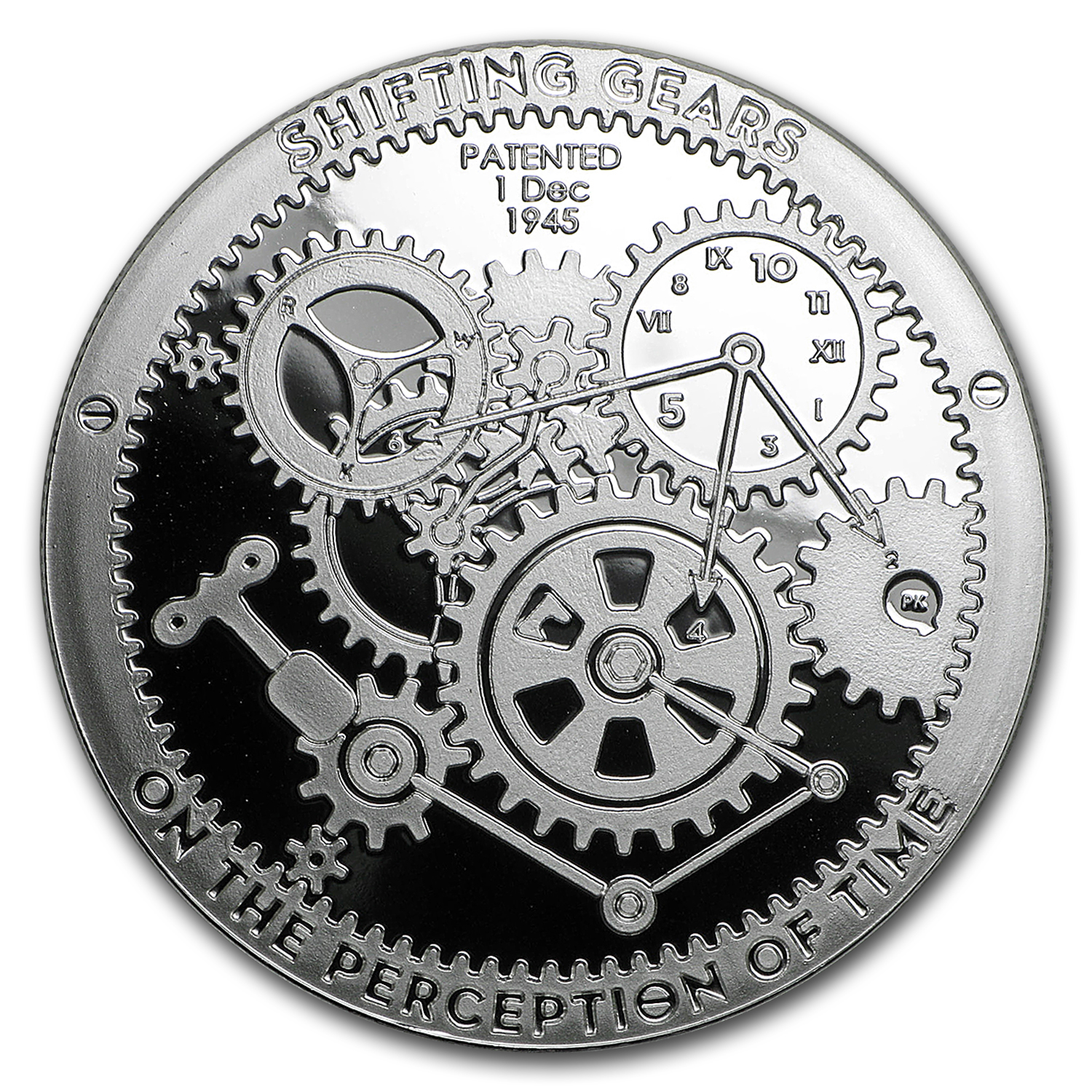1 oz Silver Round - Shifting Gears