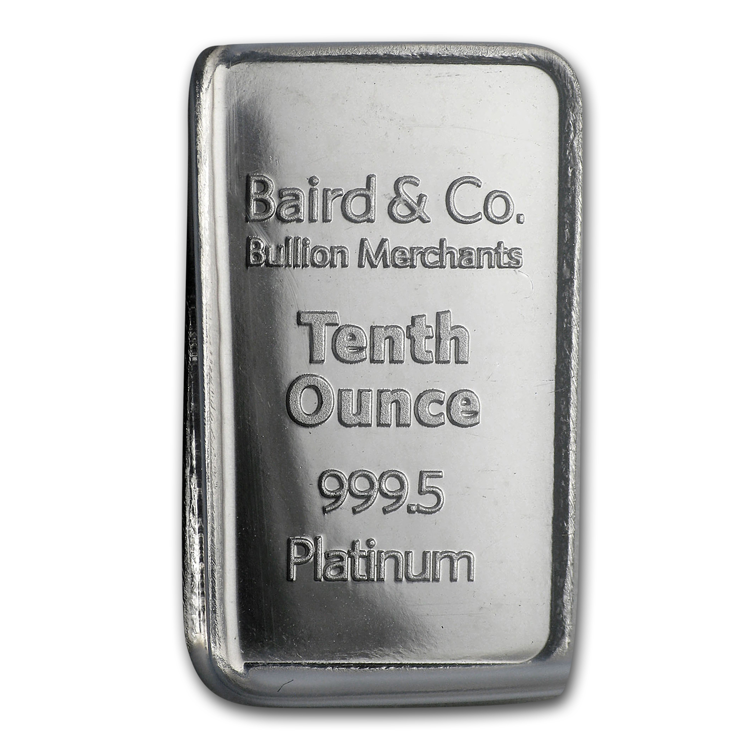 1/10 oz Platinum Bar - Baird & Co. (In Assay)