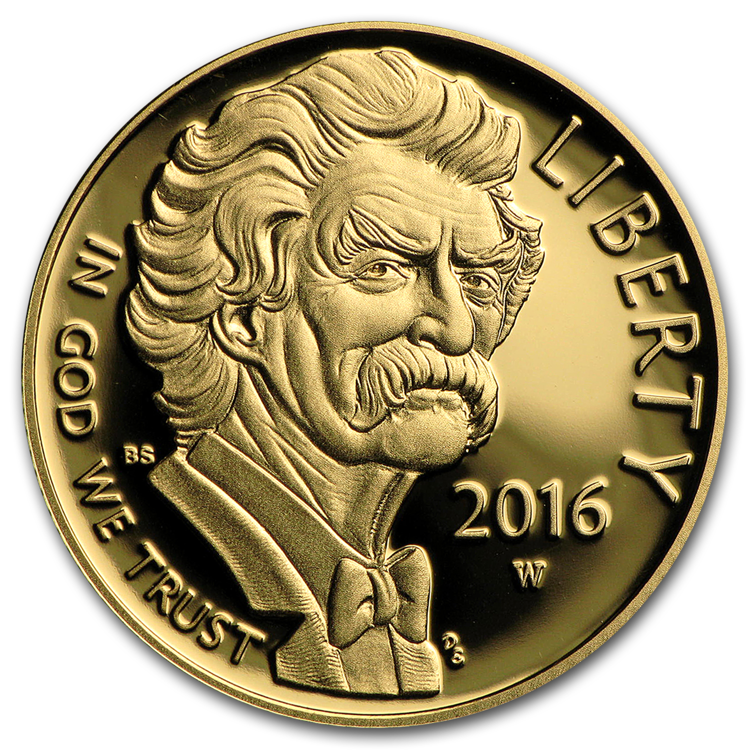 2016-W Gold $5 Commem Mark Twain Proof (w/box & COA)