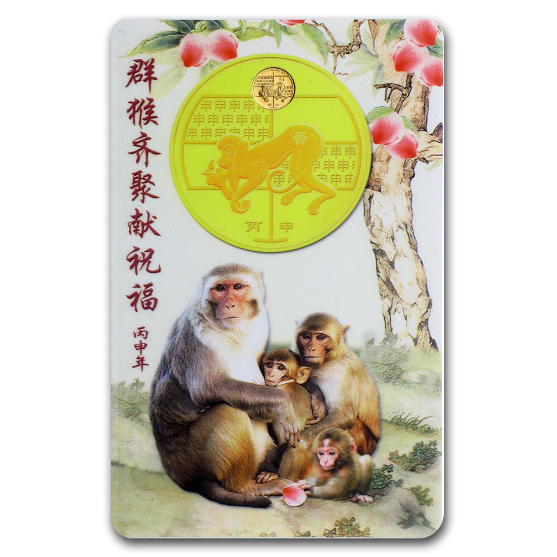 2016 Singapore 0 3 Gm Gold 1 Year Of The Monkey Bu