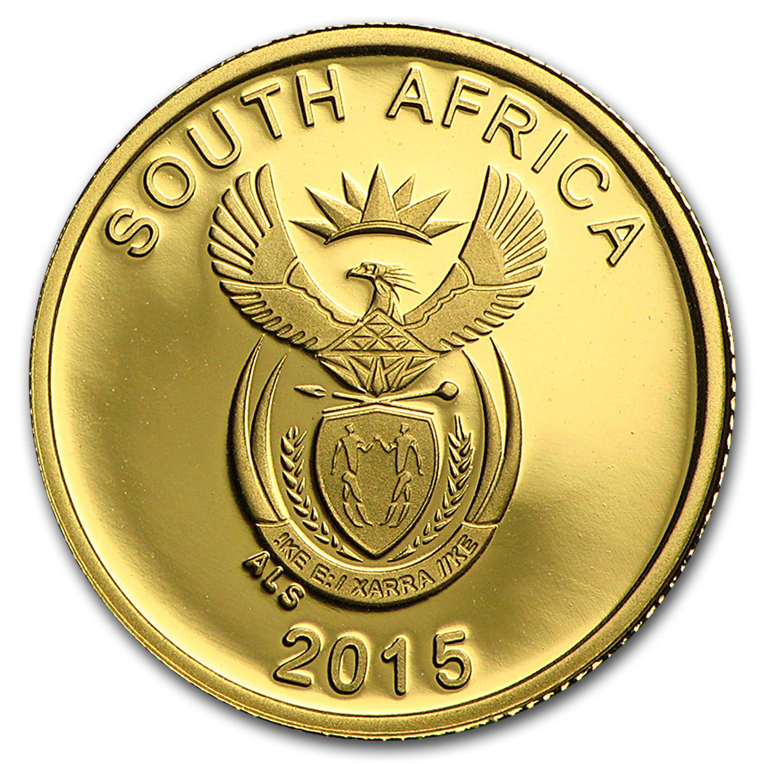 2015 South Africa 1/10 oz Gold Reptiles of S. Africa (Crocodile)