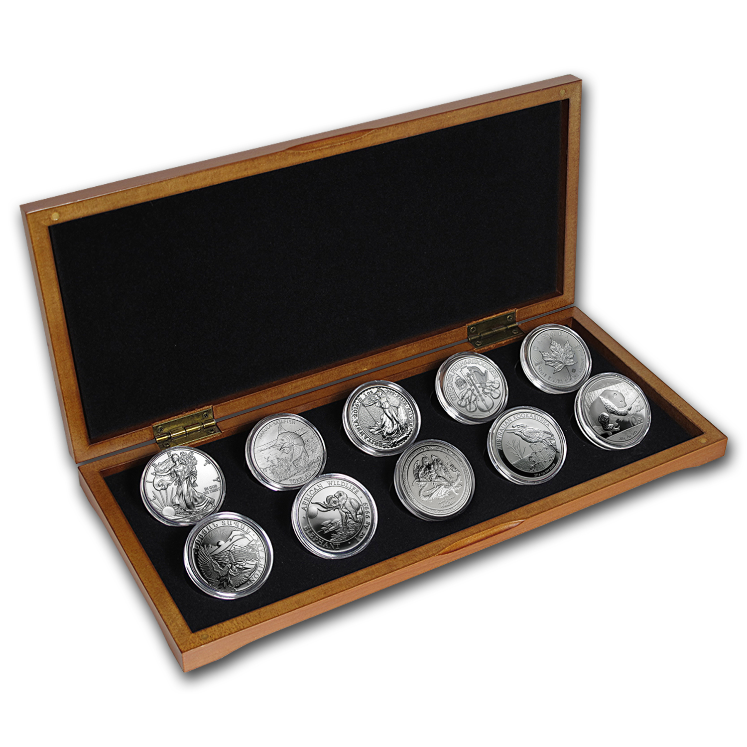 2016 10-Coin Silver 1 oz Around the World Bullion Set BU