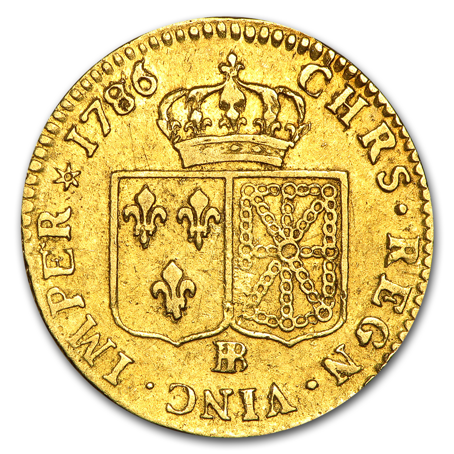 1786-BB France Gold Louis D'or XF