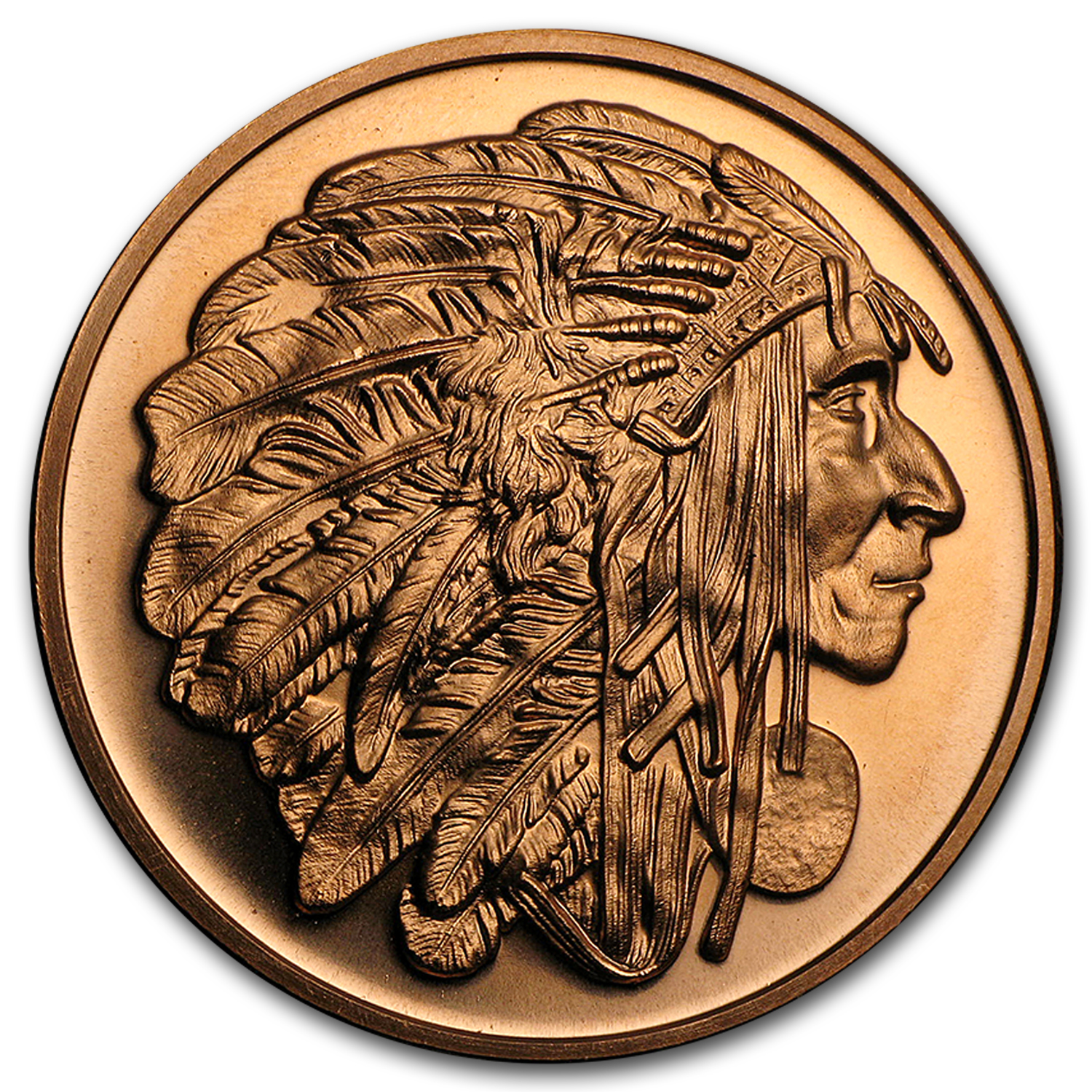 1 oz Copper Round - Medallion Chief