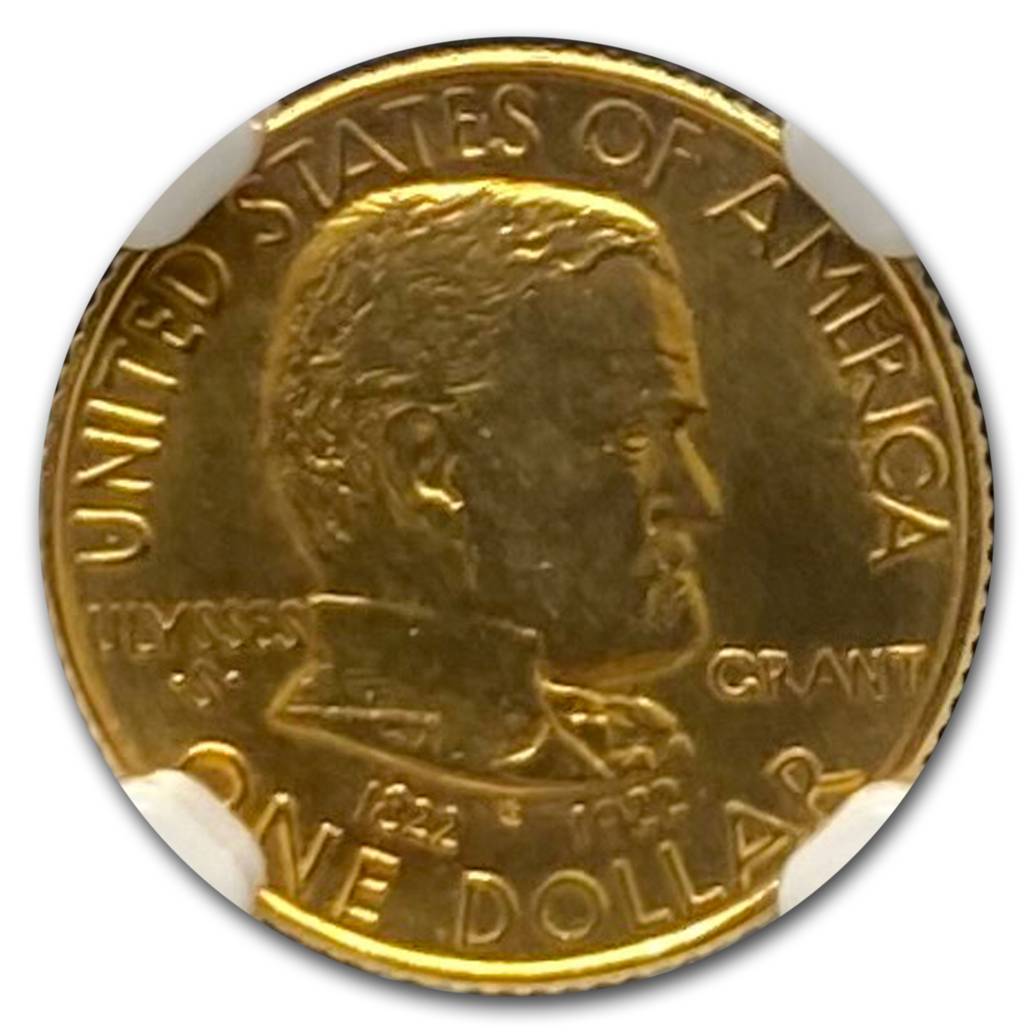 1922 Gold $1.00 Grant Commem MS-64 NGC (No Star)