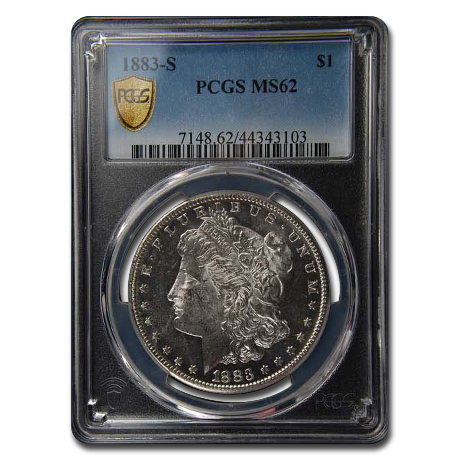 1883-S Morgan Dollar MS-62 PCGS