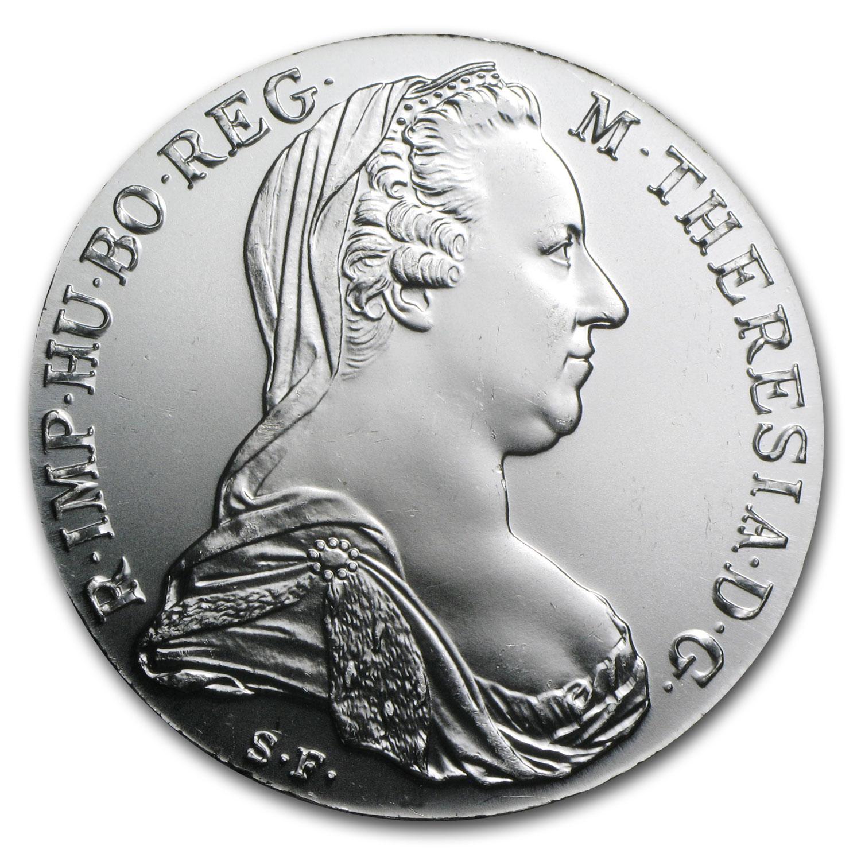 1780 Austria Maria Theresa Silver Thaler Au Bu Austrian