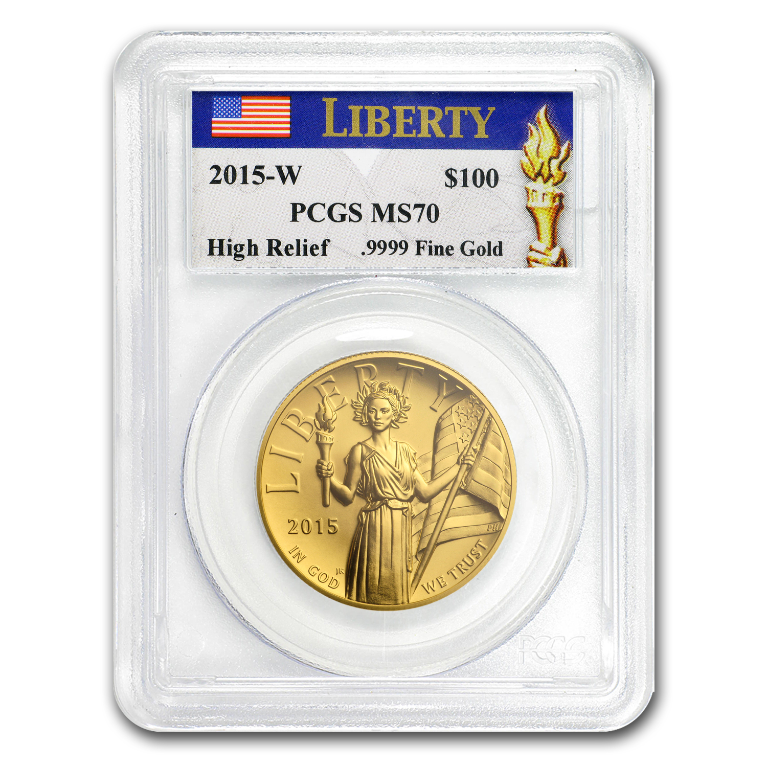 2015 High Relief American Liberty Gold MS-70 PCGS