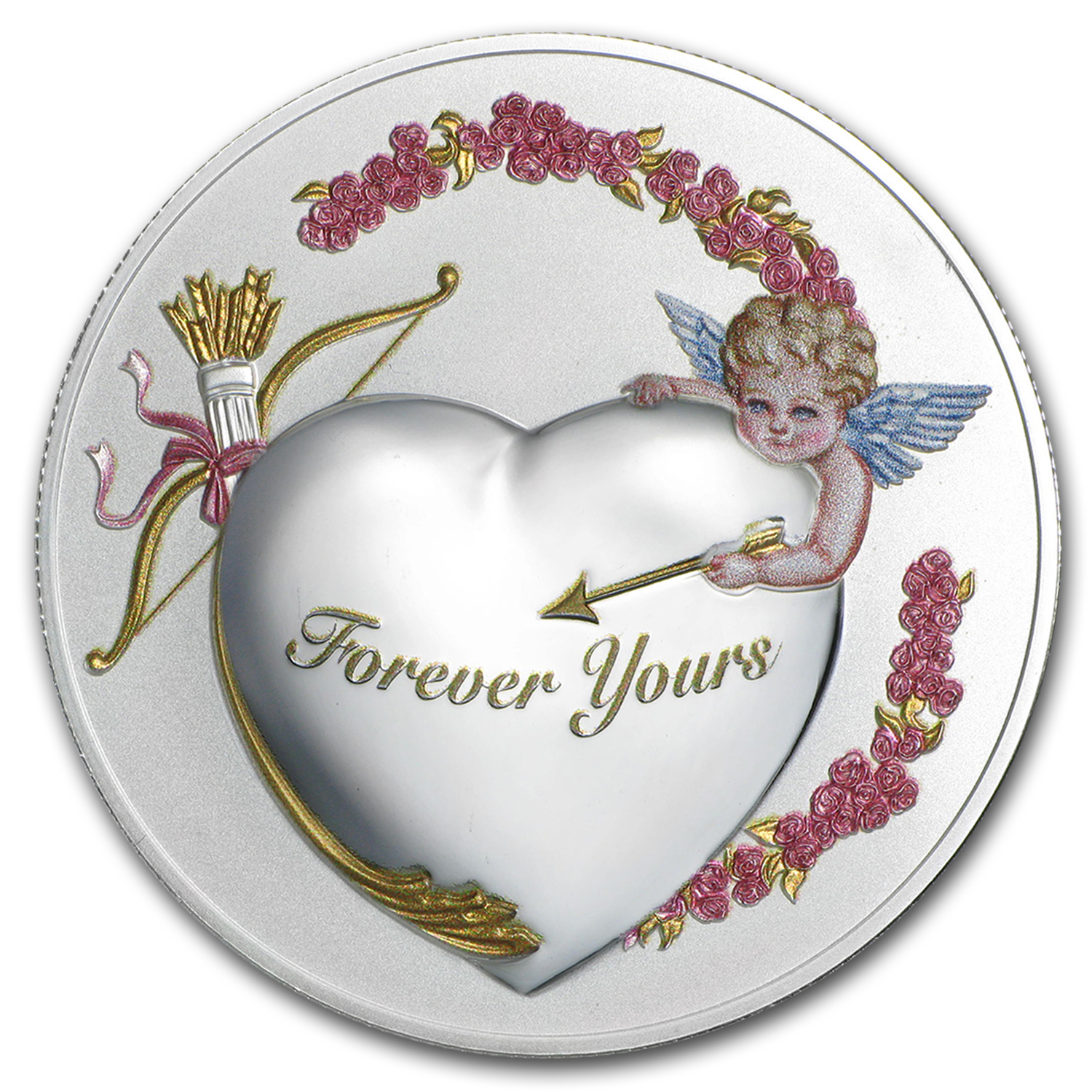 "2016 Niue 1 oz Silver ""Forever Yours"" Coin Prooflike (PAMP)"