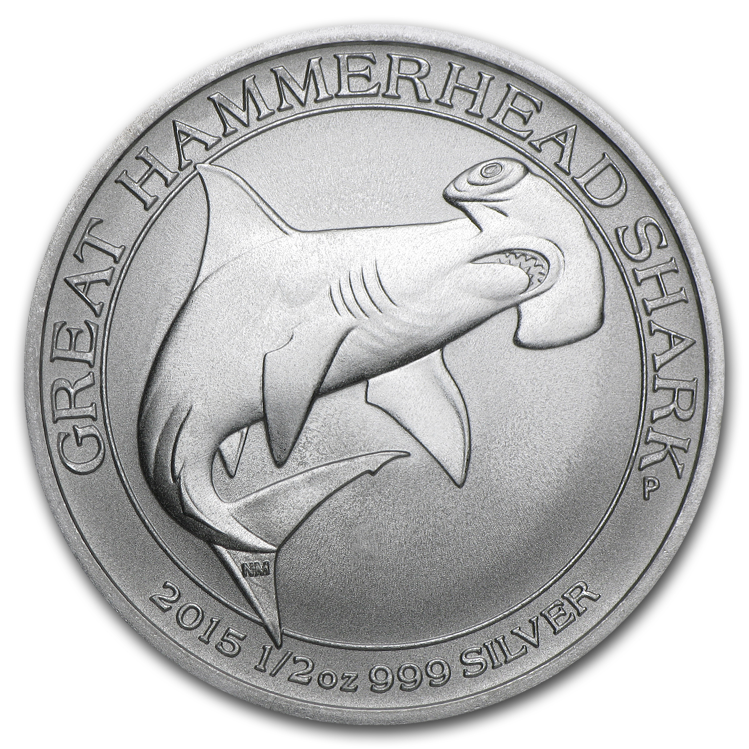 2015 Australia 1/2 oz Silver Great Hammerhead Shark (Free Coin)