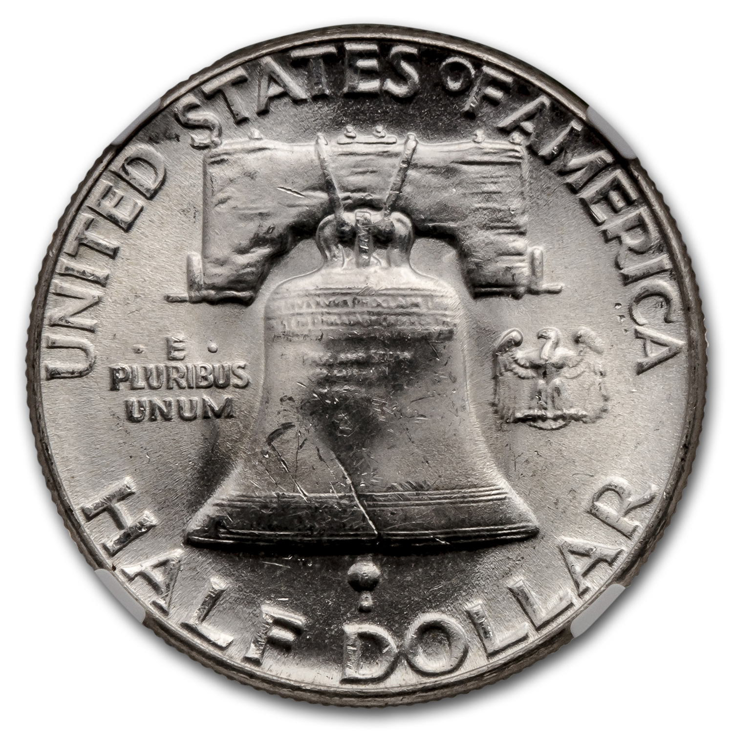 1955 Franklin Half Dollar MS-64 NGC (FBL)